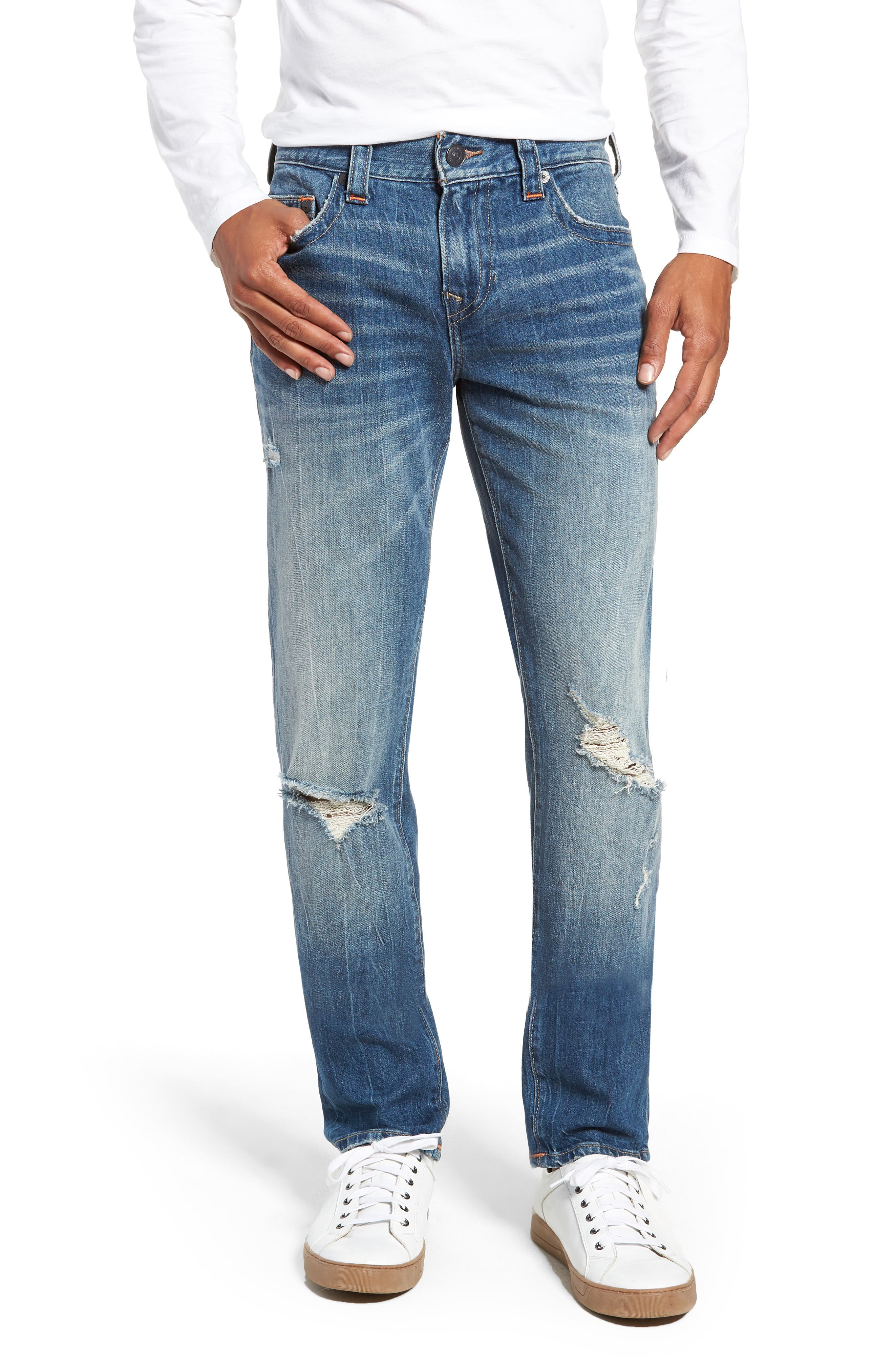 Rocco Skinny Fit Jeans,                             Main thumbnail 1, color,                             WORN RAMPAGE