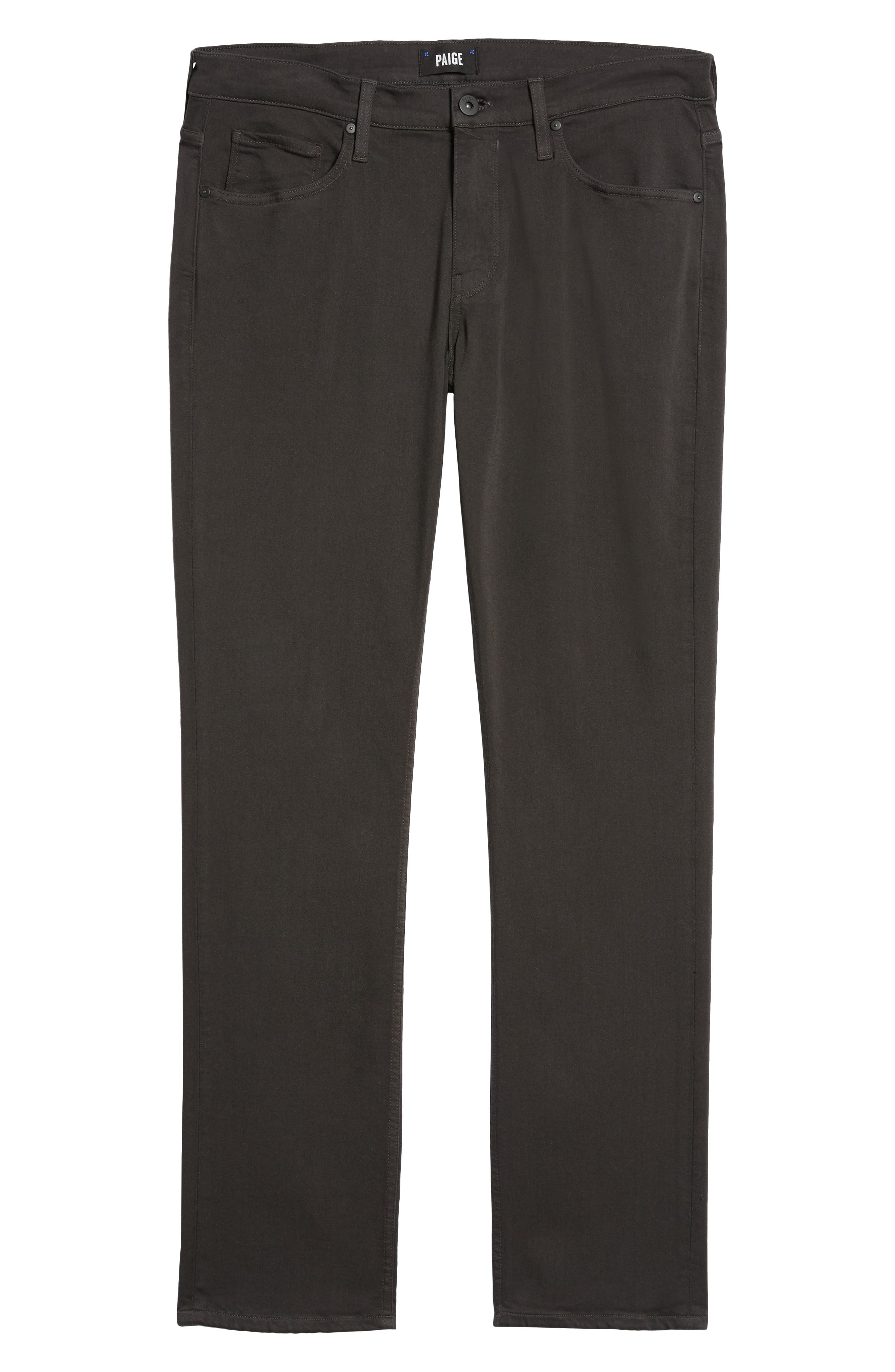 Transcend - Normandie Straight Leg Jeans,                             Alternate thumbnail 6, color,                             MIDNIGHT GREY