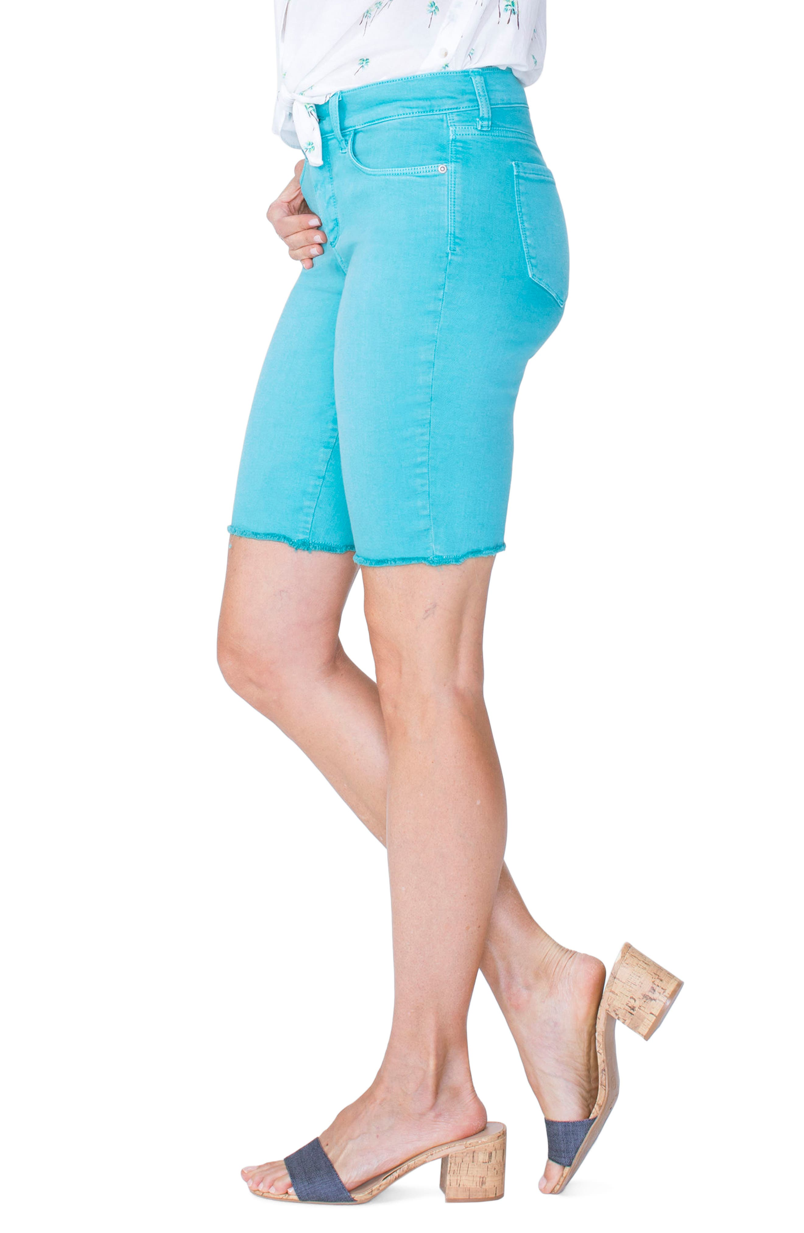 Briella Frayed Hem Bermuda Shorts,                             Alternate thumbnail 13, color,