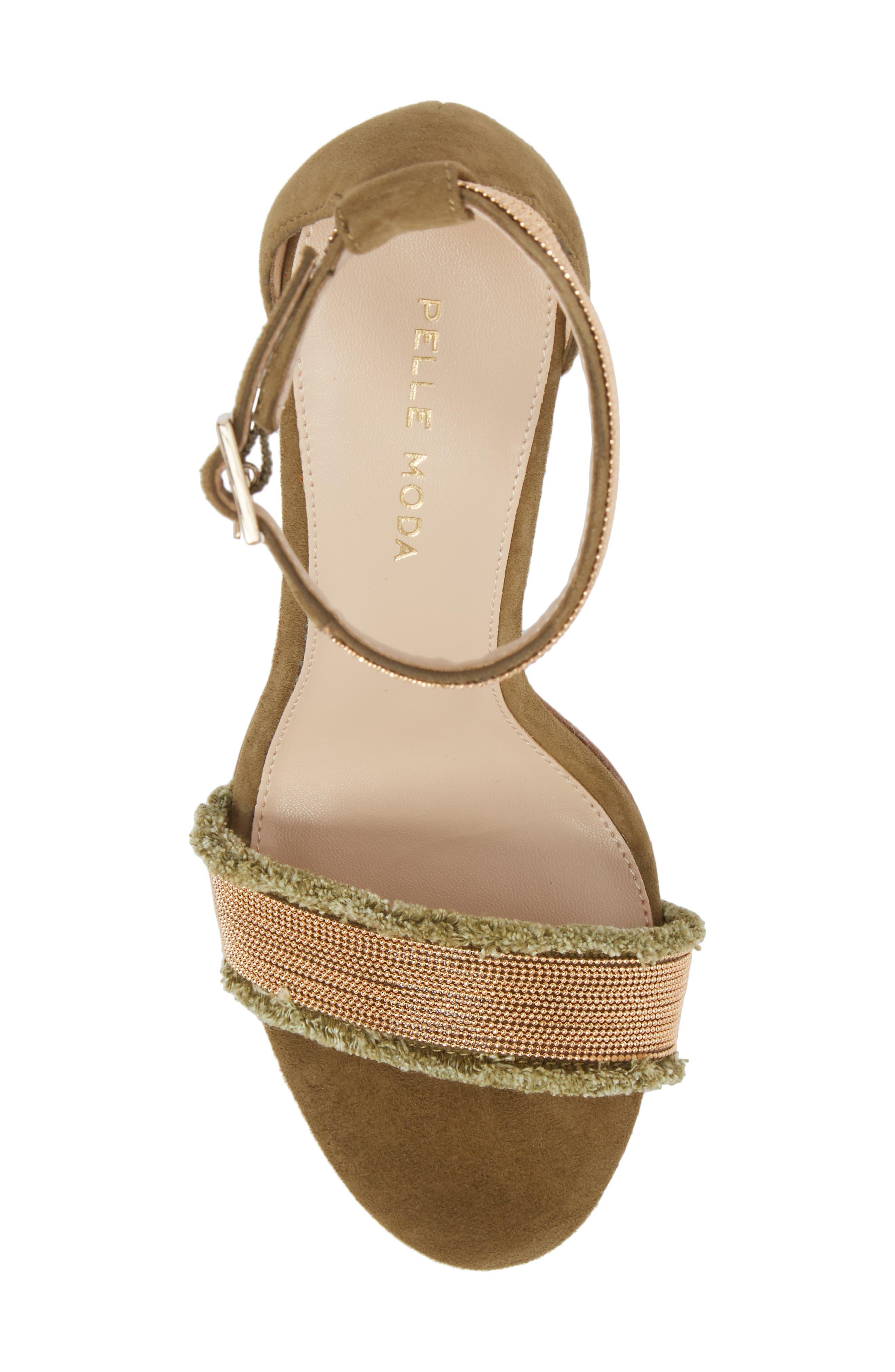 Bonnie6 Embellished Sandal,                             Alternate thumbnail 5, color,                             KHAKI SUEDE