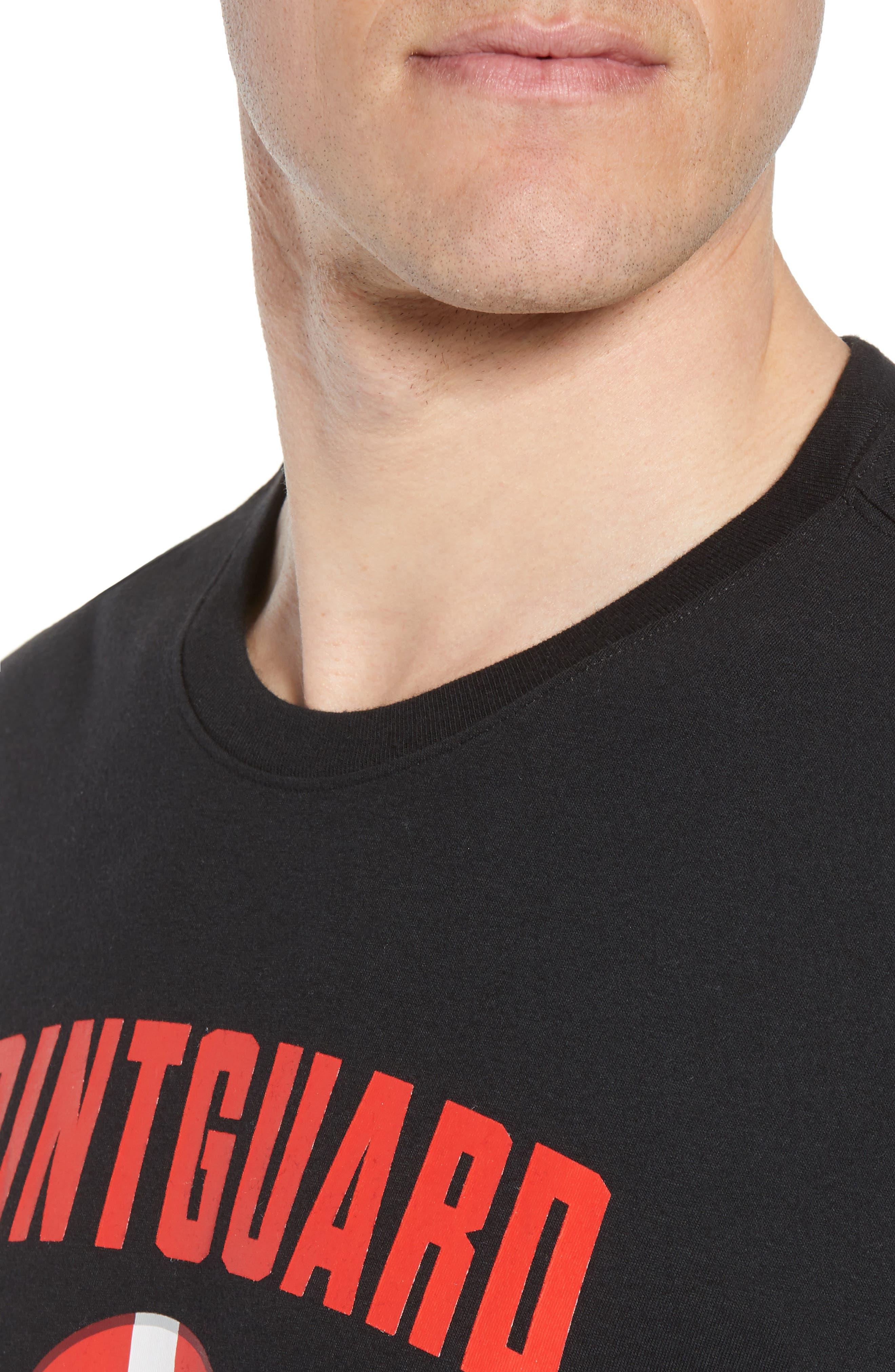 Dry Pointguard Graphic T-Shirt,                             Alternate thumbnail 4, color,                             BLACK/ BLACK
