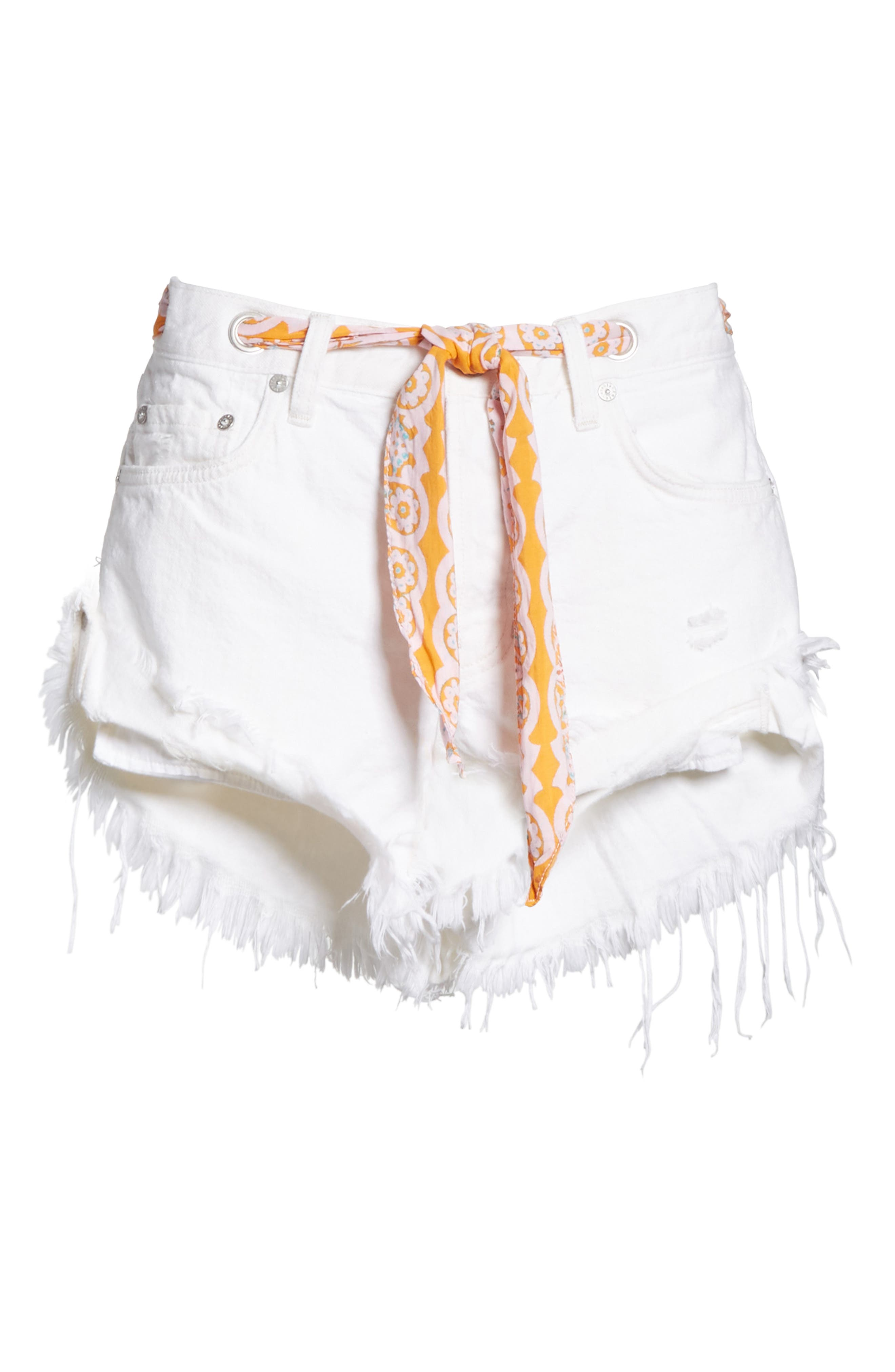 Cutoff Denim Shorts,                             Alternate thumbnail 7, color,