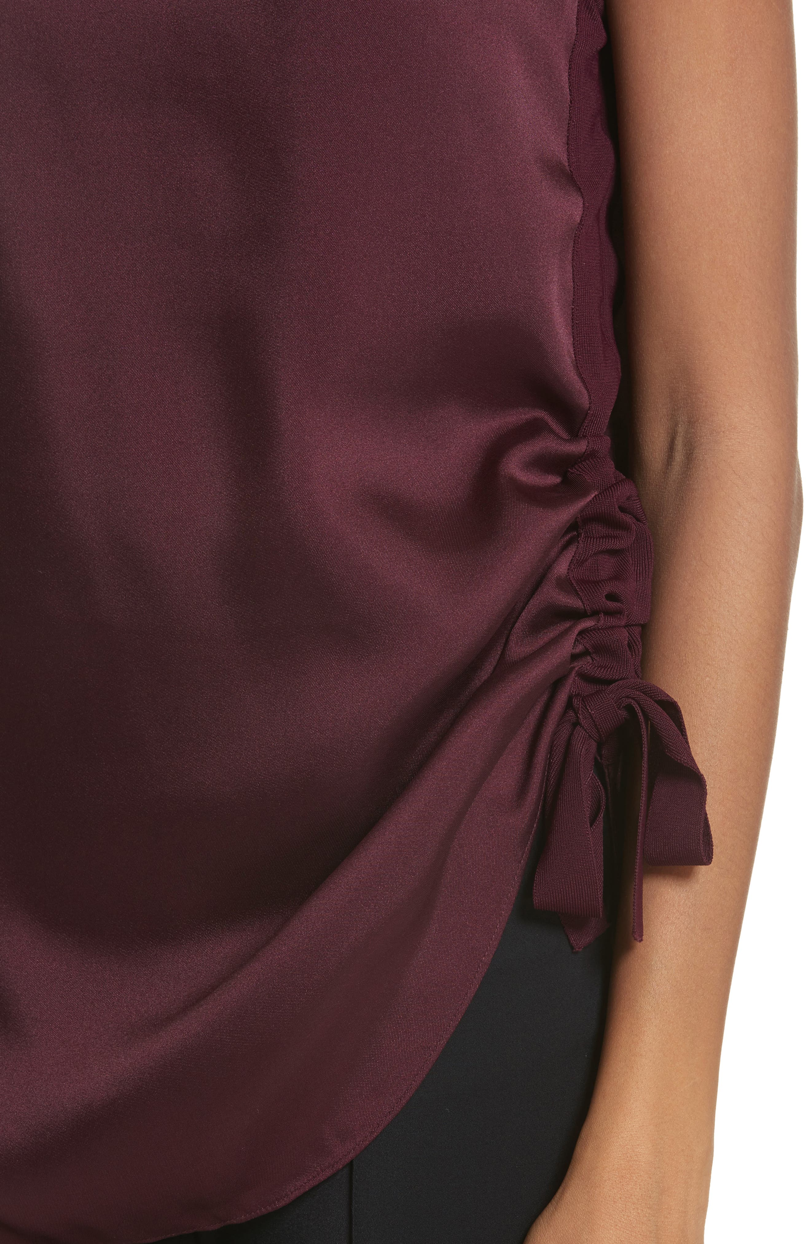 Side Ruched Top,                             Alternate thumbnail 8, color,