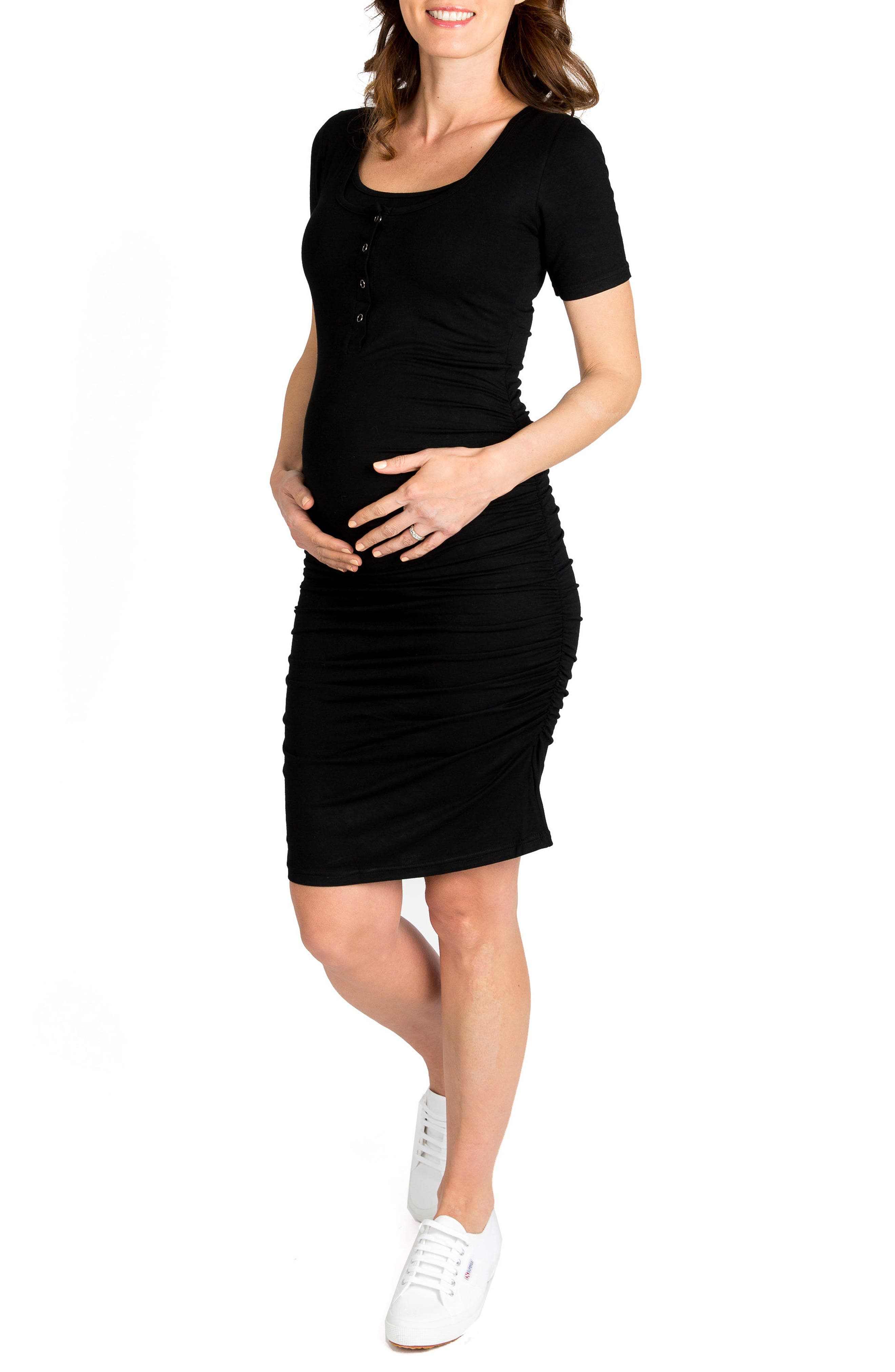 Nom Maternity Snap Maternity/nursing Shirtdress