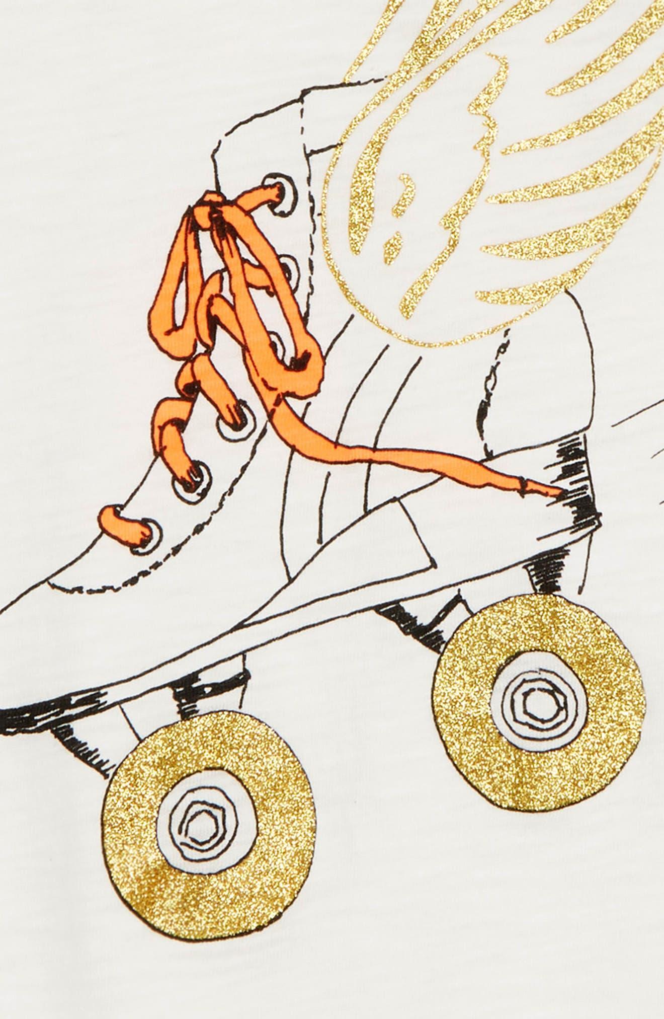 Roller Skate Graphic Tee,                             Alternate thumbnail 2, color,                             IVORY