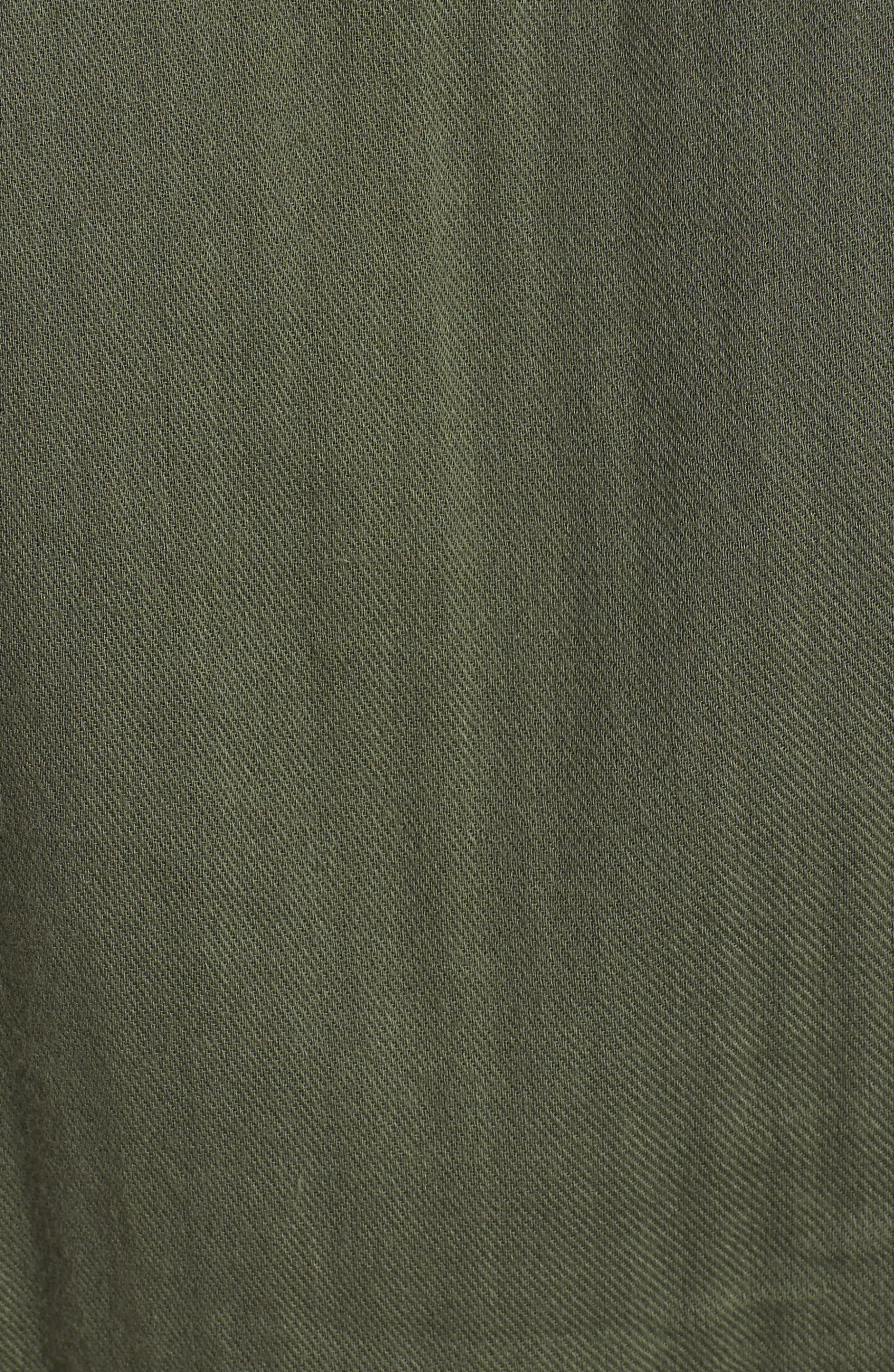 Kingston Cotton Romper,                             Alternate thumbnail 5, color,                             OLIVE LIGHT OLIVE
