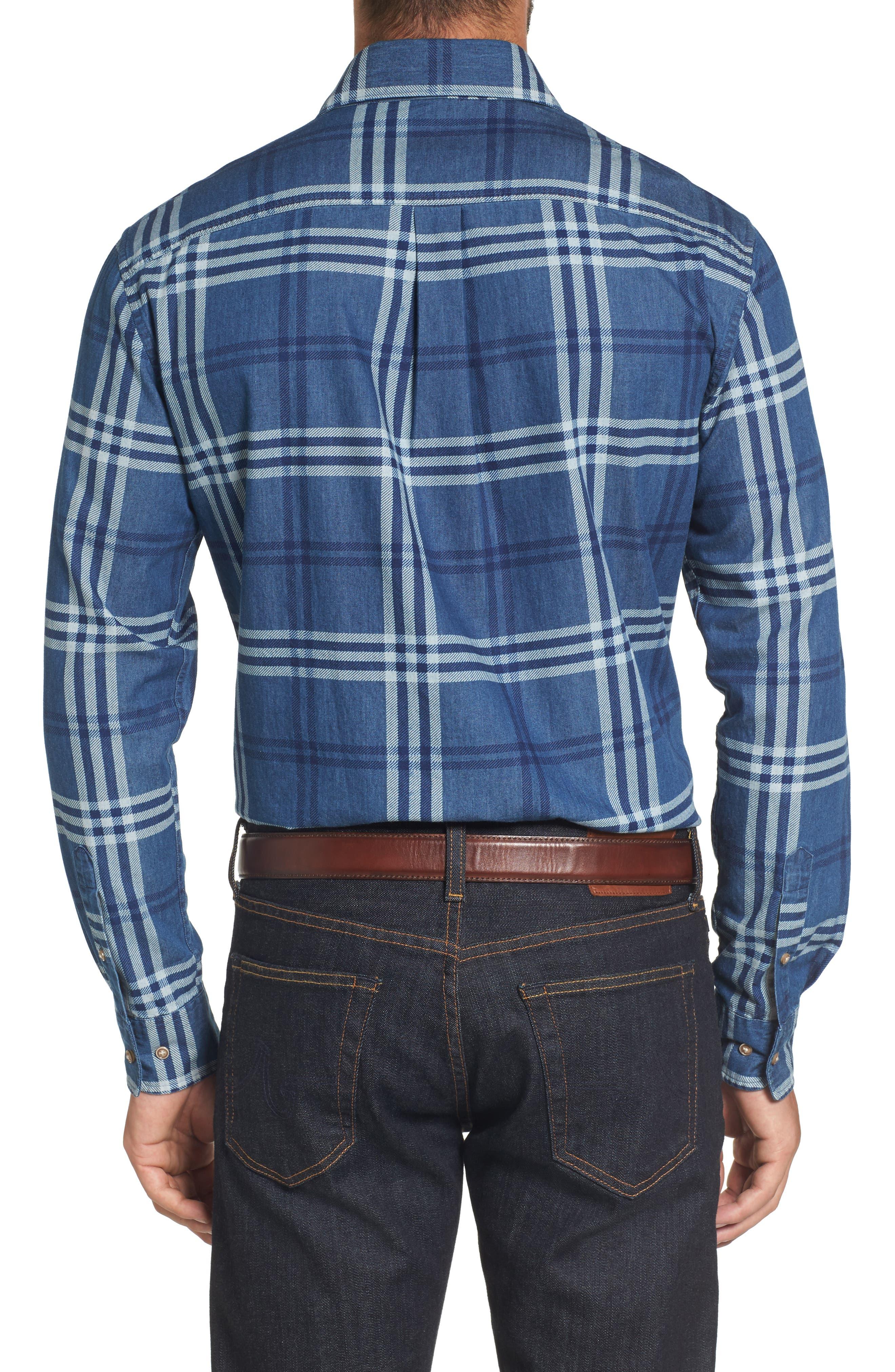 Breckenridge Plaid Sport Shirt,                             Alternate thumbnail 2, color,                             400