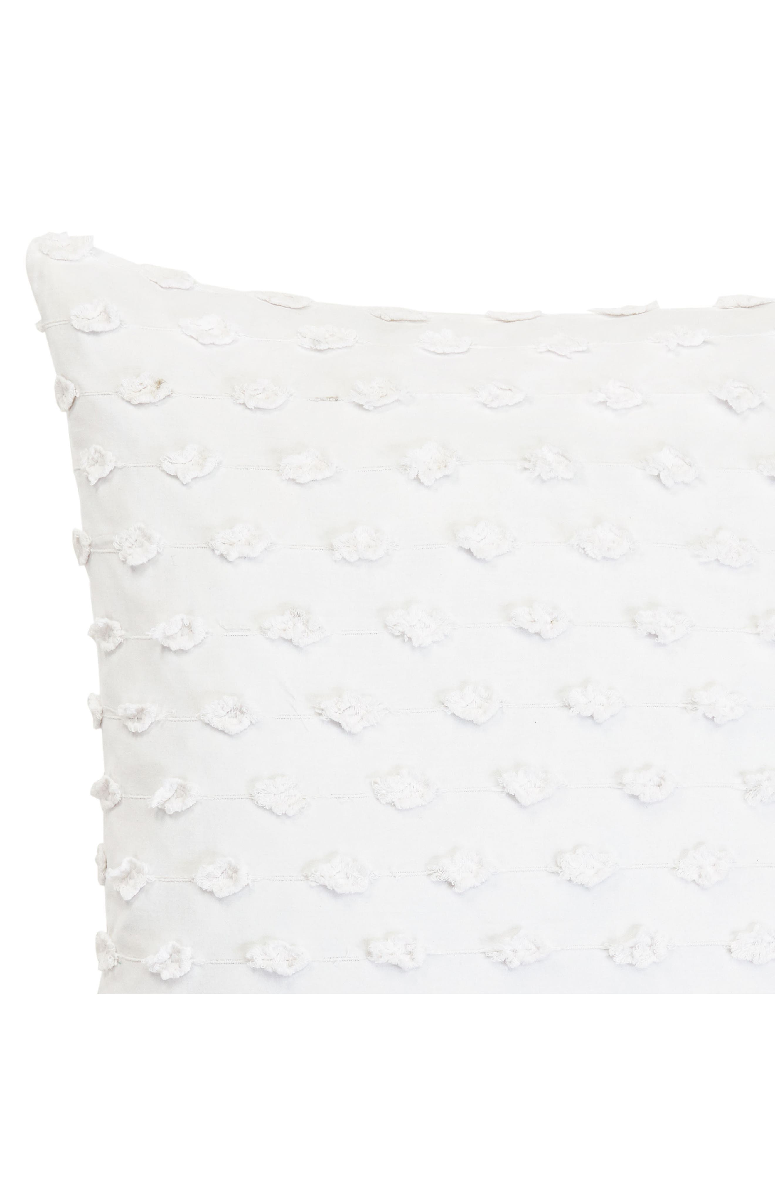 Fringe Accent Pillow,                             Alternate thumbnail 2, color,                             WHITE