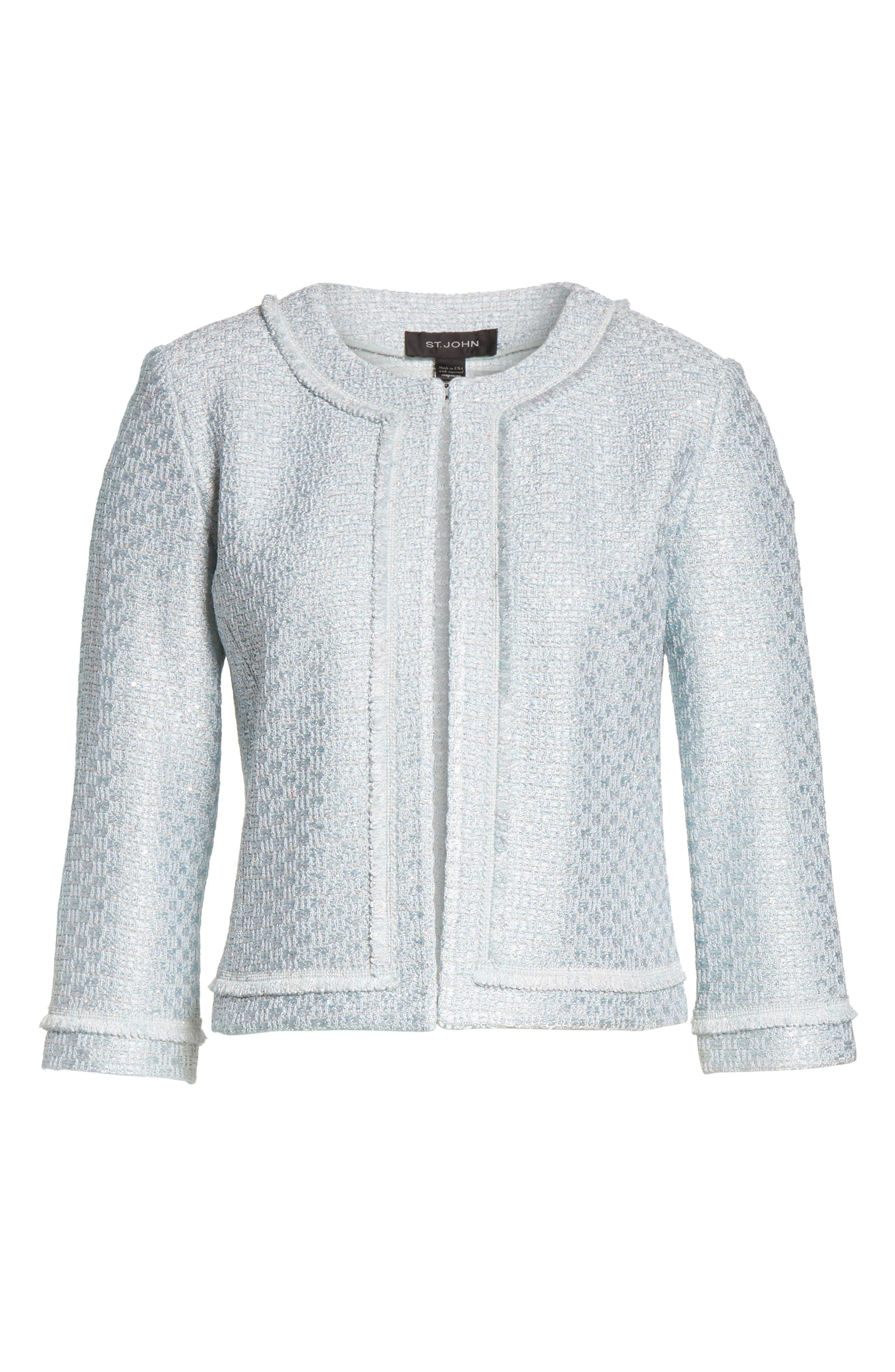 Hansh Sequin Knit Jacket,                             Alternate thumbnail 5, color,                             440