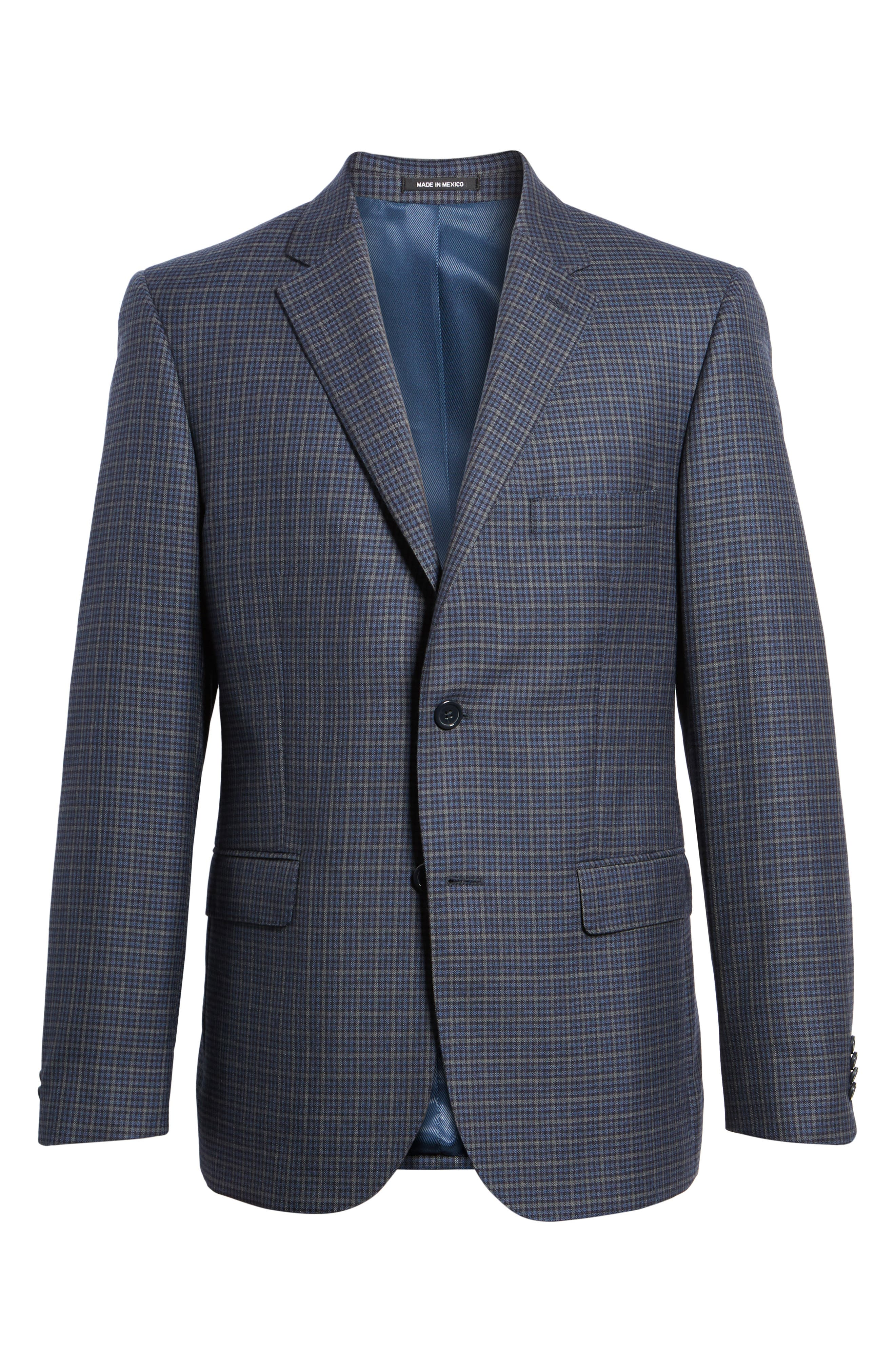 Classic Fit Check Wool Sport Coat,                             Alternate thumbnail 5, color,                             422