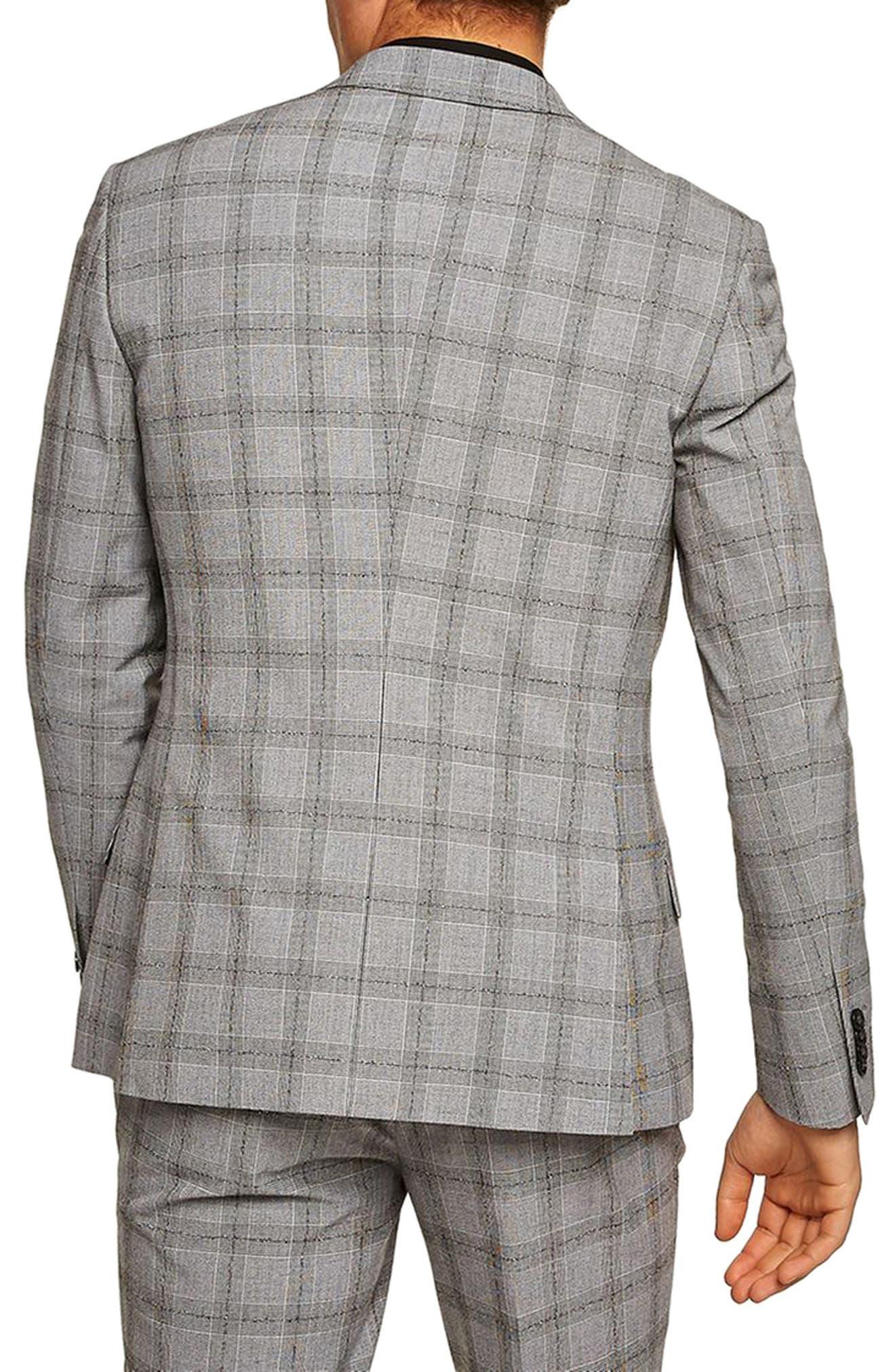 Check Suit Jacket,                             Alternate thumbnail 2, color,                             001