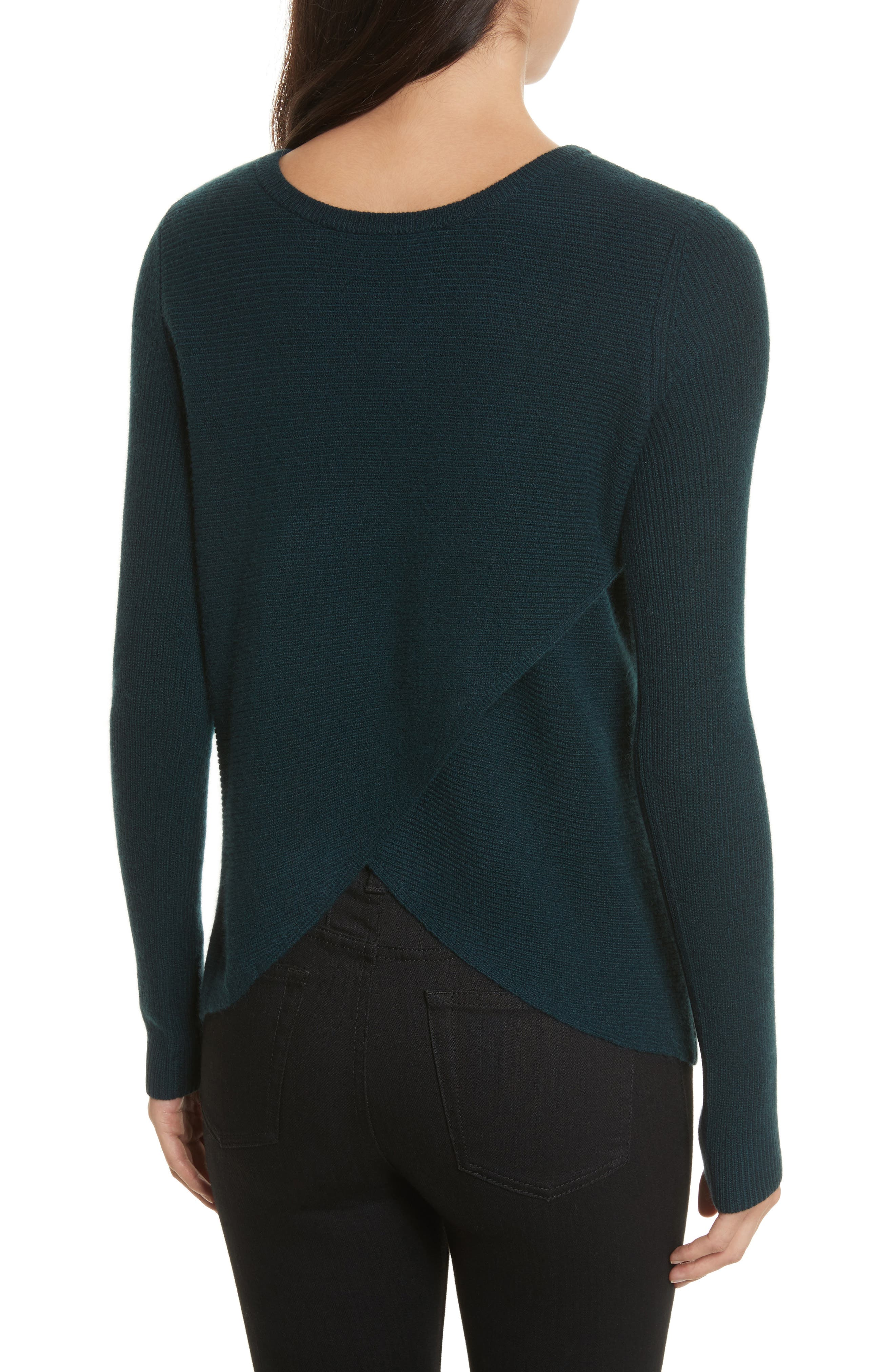 Cashmere Reversible Surplice Sweater,                             Alternate thumbnail 3, color,                             232
