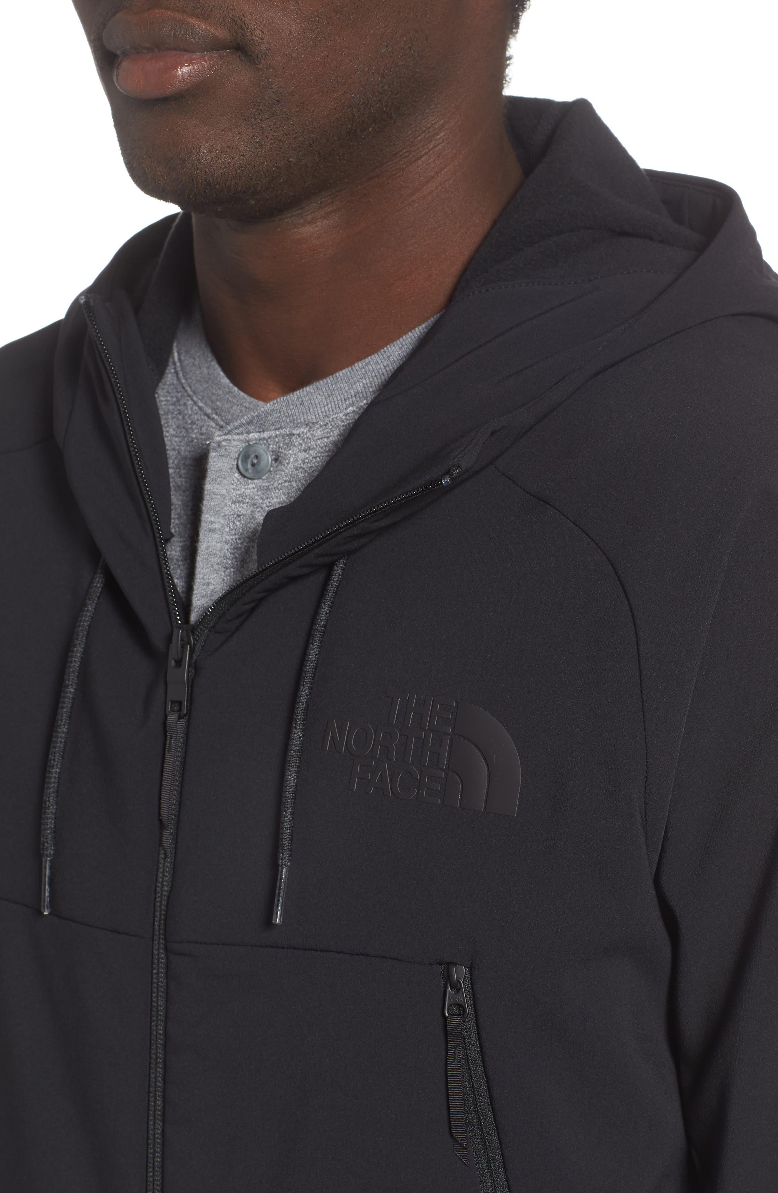Tekno Zip Jacket,                             Alternate thumbnail 4, color,                             TNF BLACK