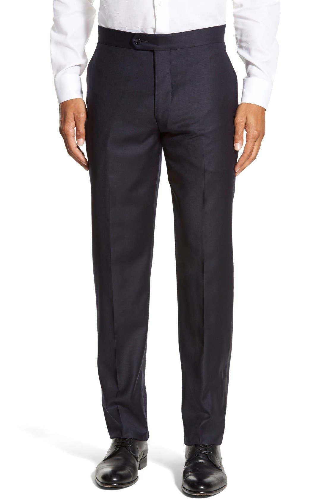 'Aston' Trim Fit Solid Wool Tuxedo,                             Alternate thumbnail 5, color,                             410