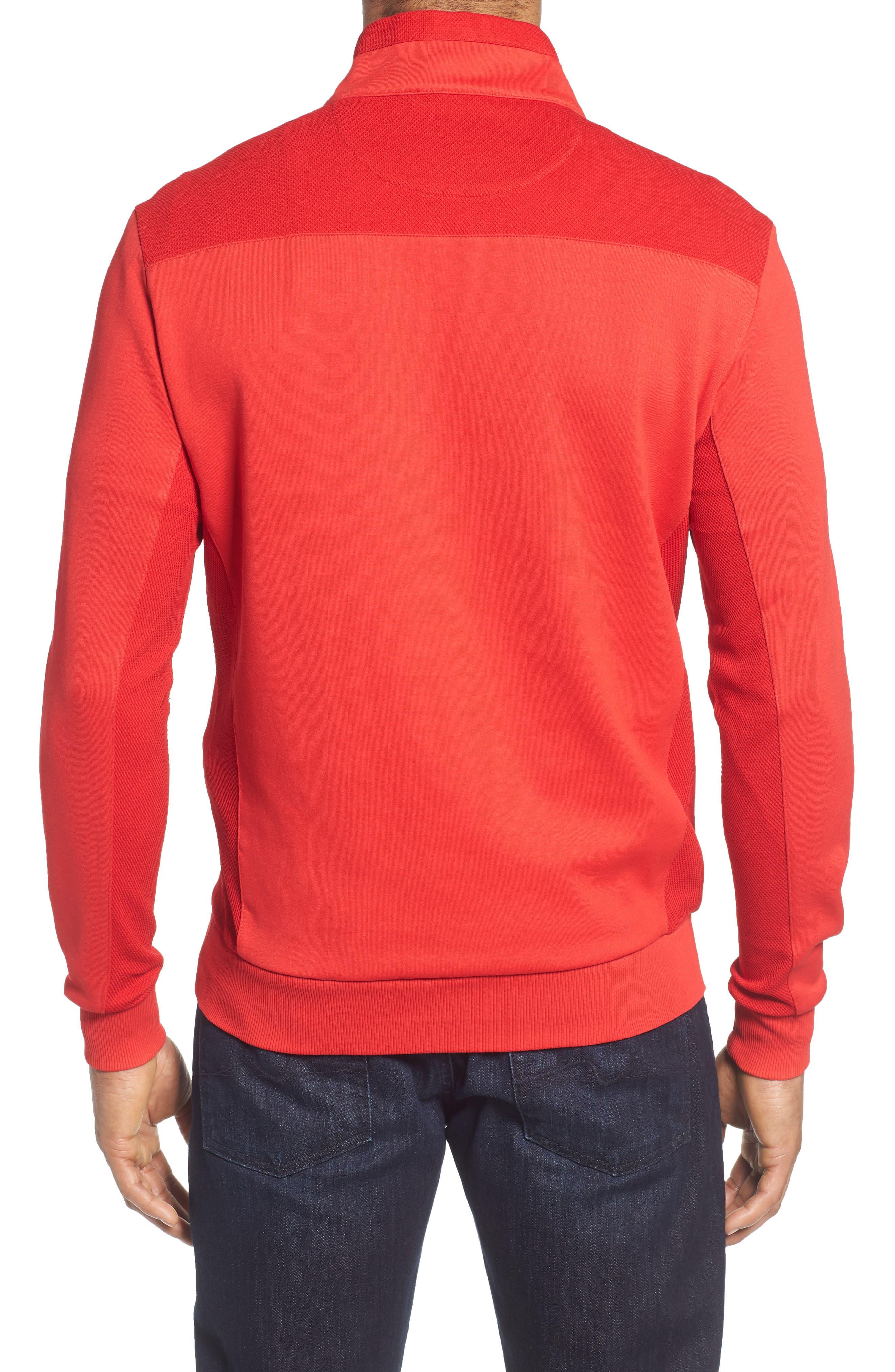 Regular Fit Knit Quarter Zip Pullover,                             Alternate thumbnail 8, color,