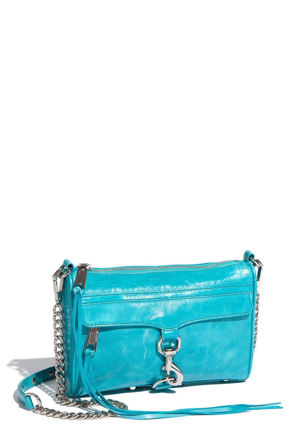 'Mini MAC' Croc Embossed Convertible Crossbody Bag,                             Main thumbnail 13, color,