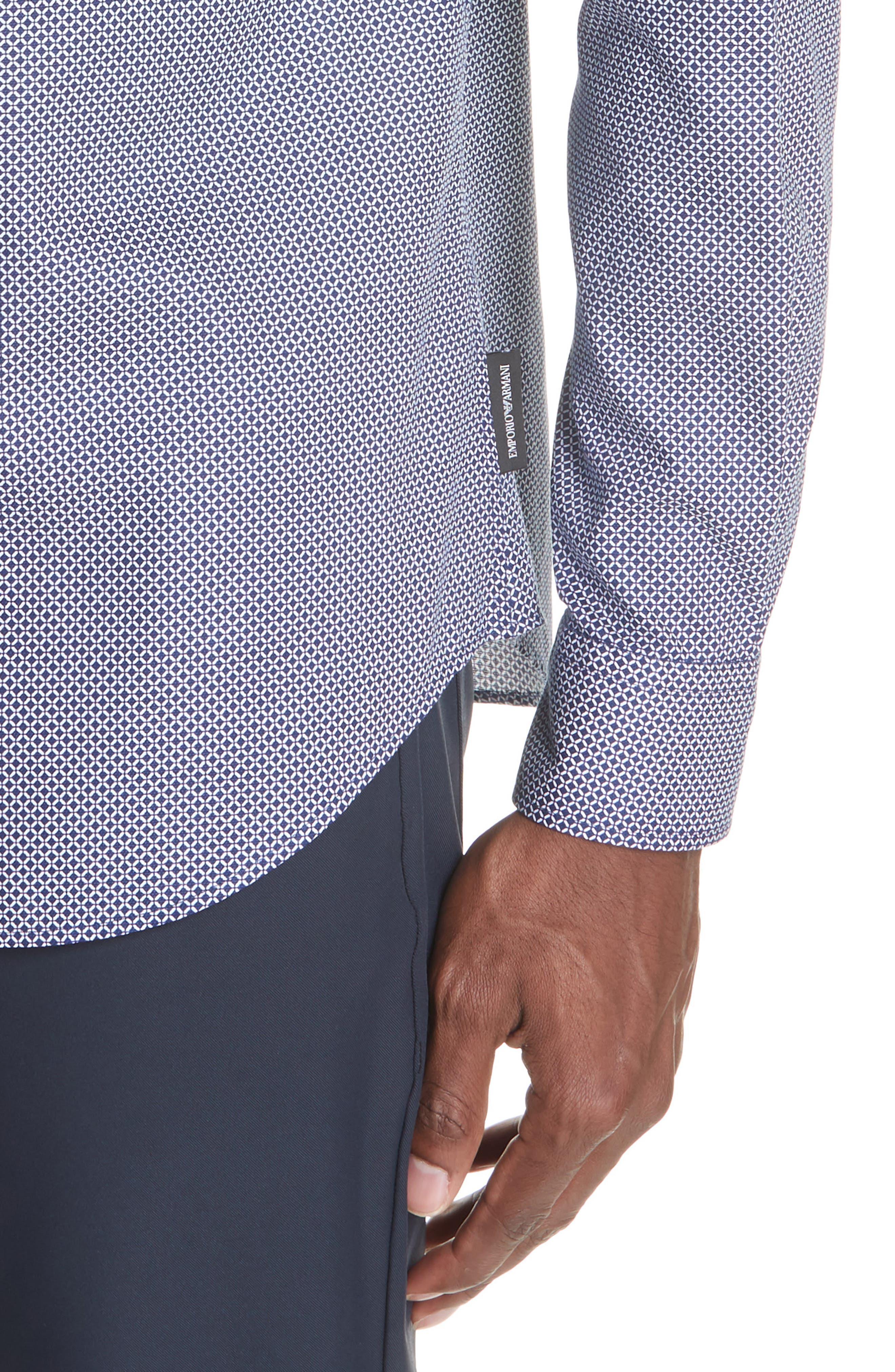 Regular Fit Sport Shirt,                             Alternate thumbnail 4, color,                             BLUE
