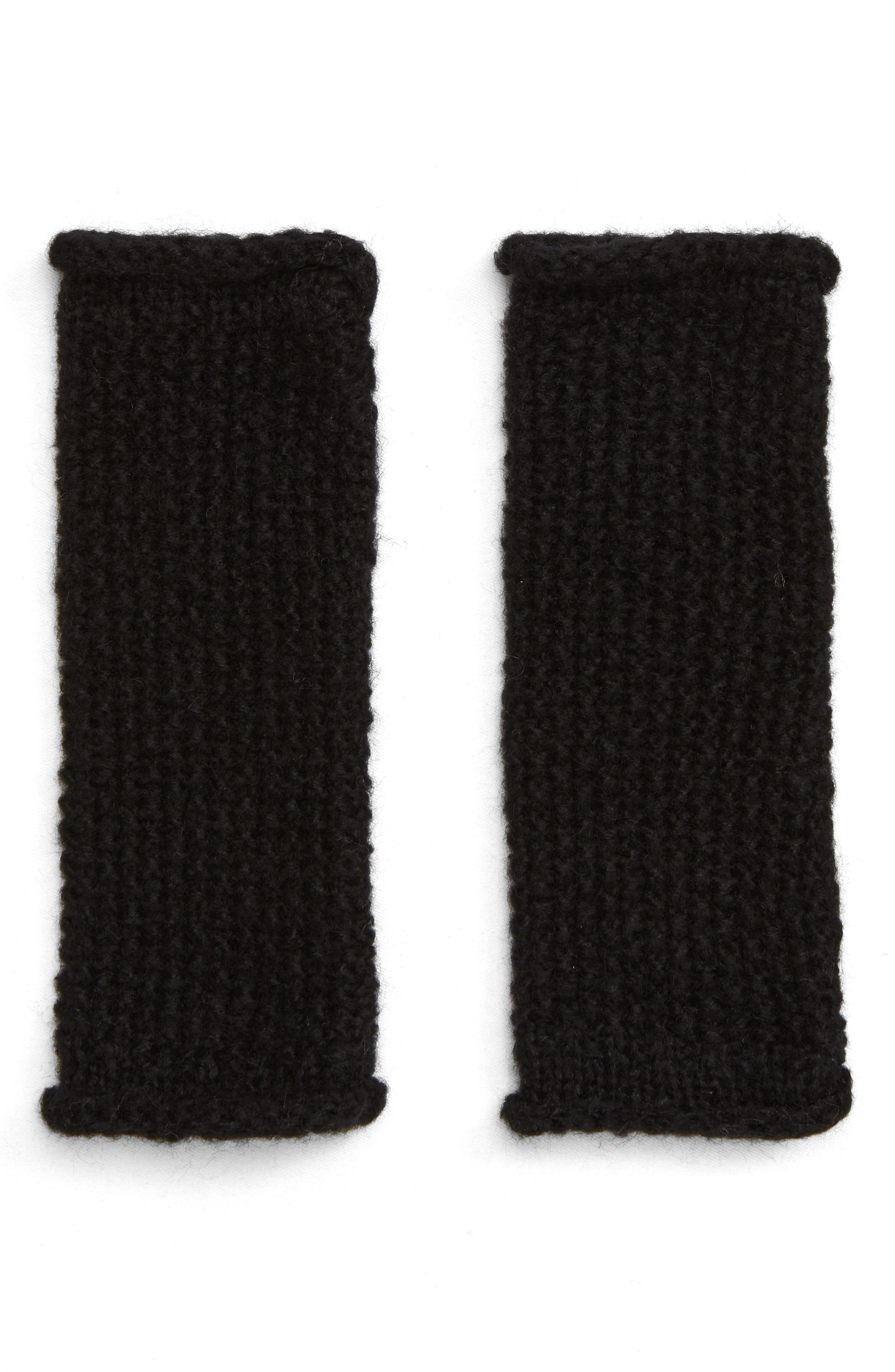 Simple Solid Arm Warmers,                             Main thumbnail 1, color,                             BLACK