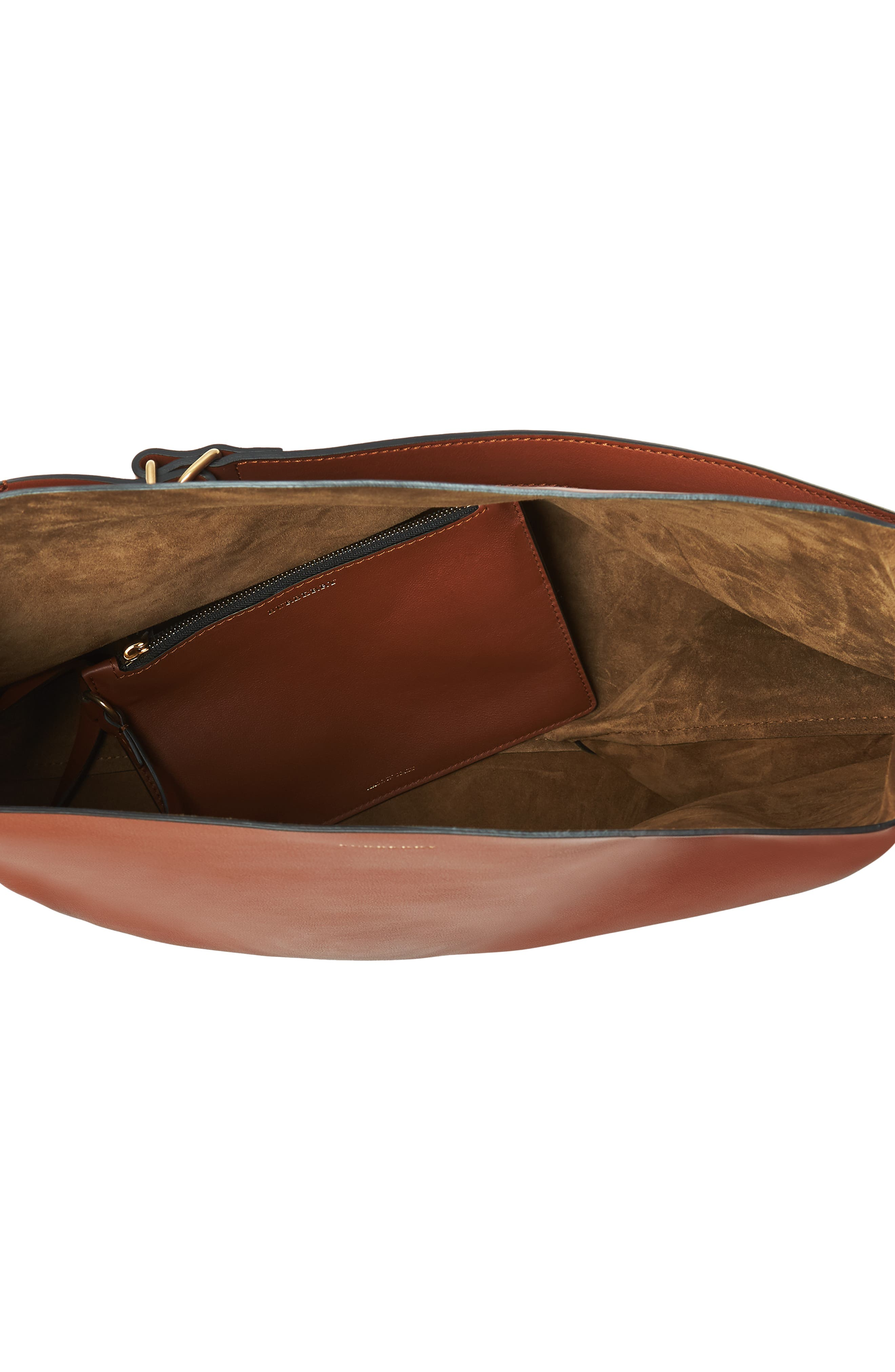 Grommet Medium Leather Hobo,                             Alternate thumbnail 3, color,                             216