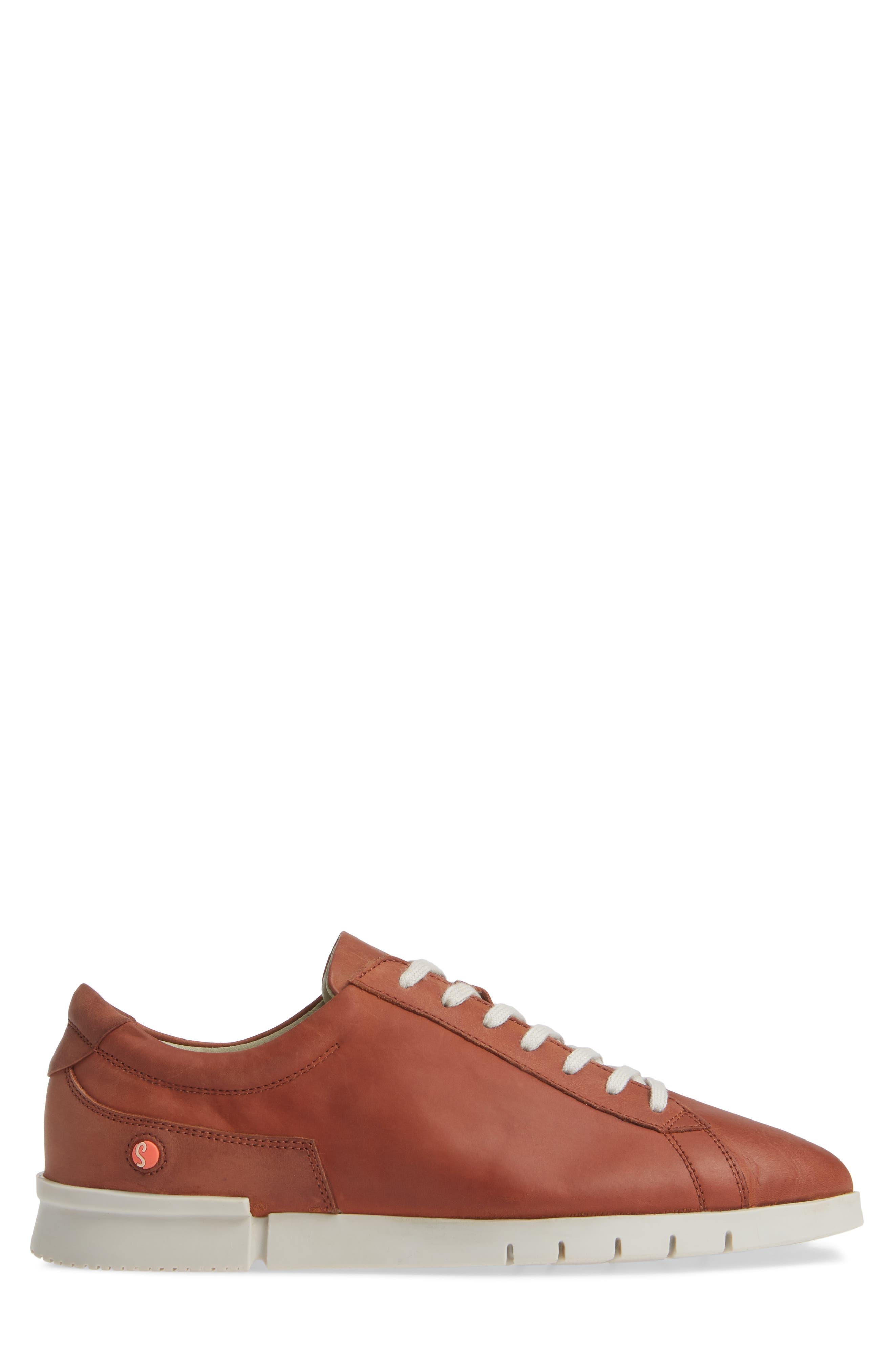 Cer Low-Top Sneaker,                             Alternate thumbnail 3, color,                             COGNAC CORGI LEATHER