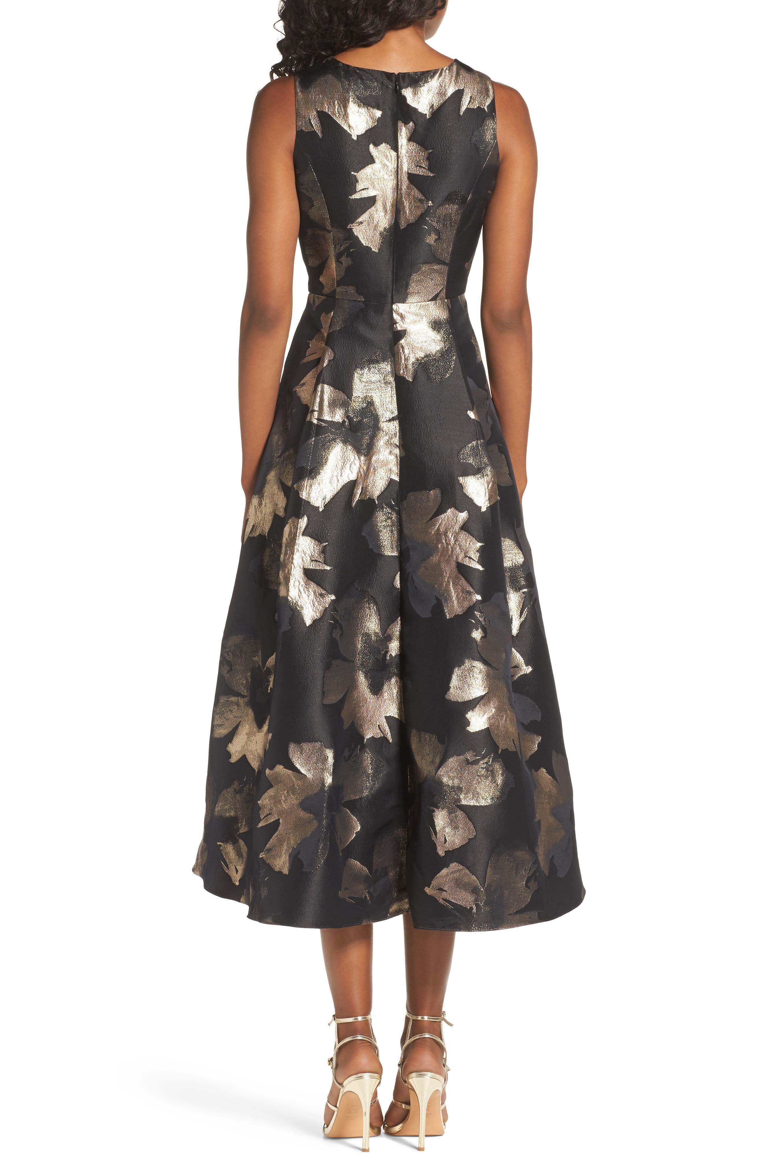 Coraline Brocade High/Low Gown,                             Alternate thumbnail 2, color,                             009