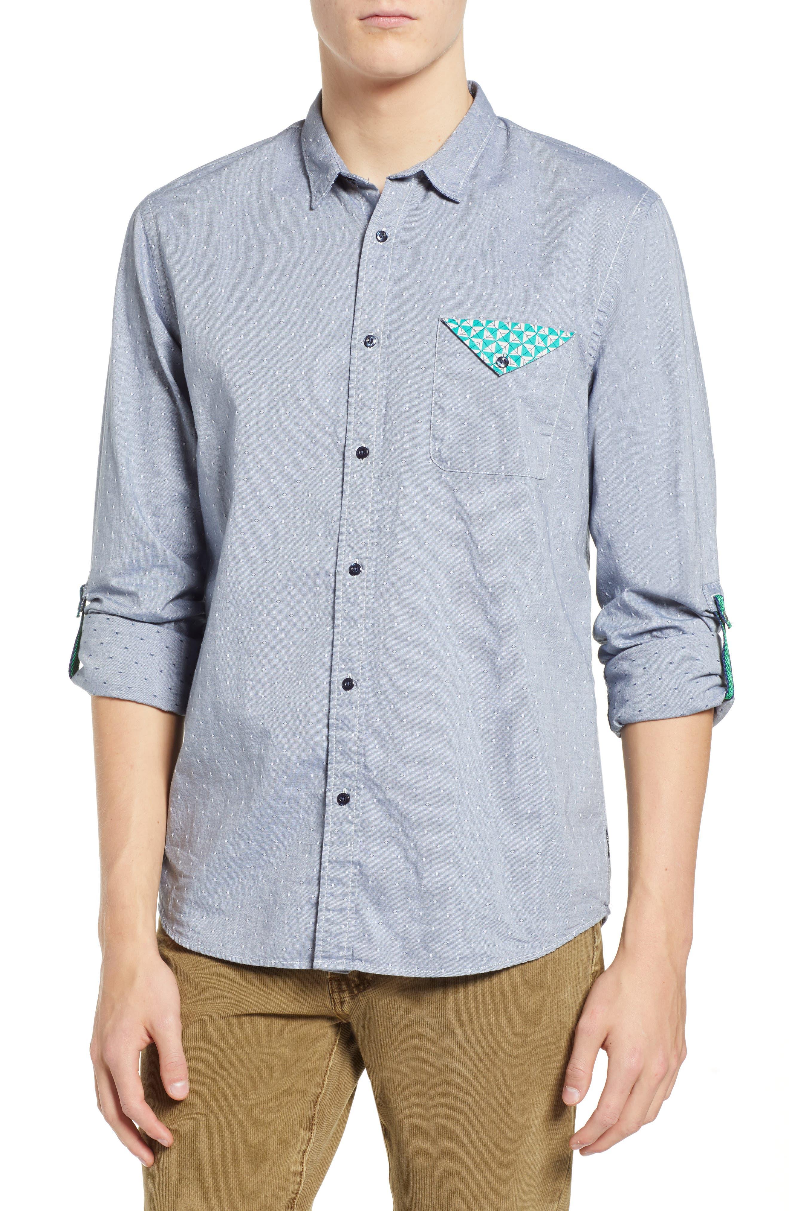 Dobby Sport Shirt,                         Main,                         color, COMBO F