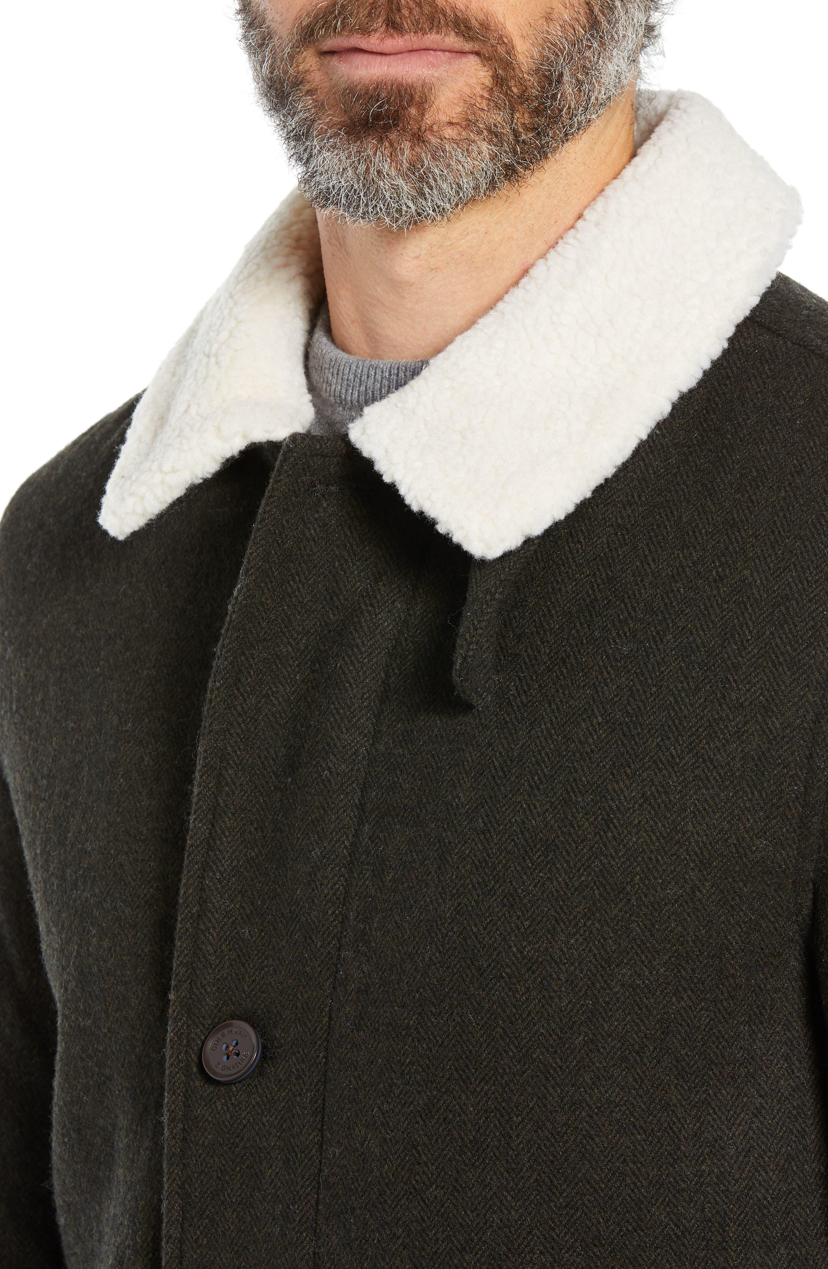 COLE HAAN SIGNATURE,                             Faux Shearling Trim Field Jacket,                             Alternate thumbnail 4, color,                             317