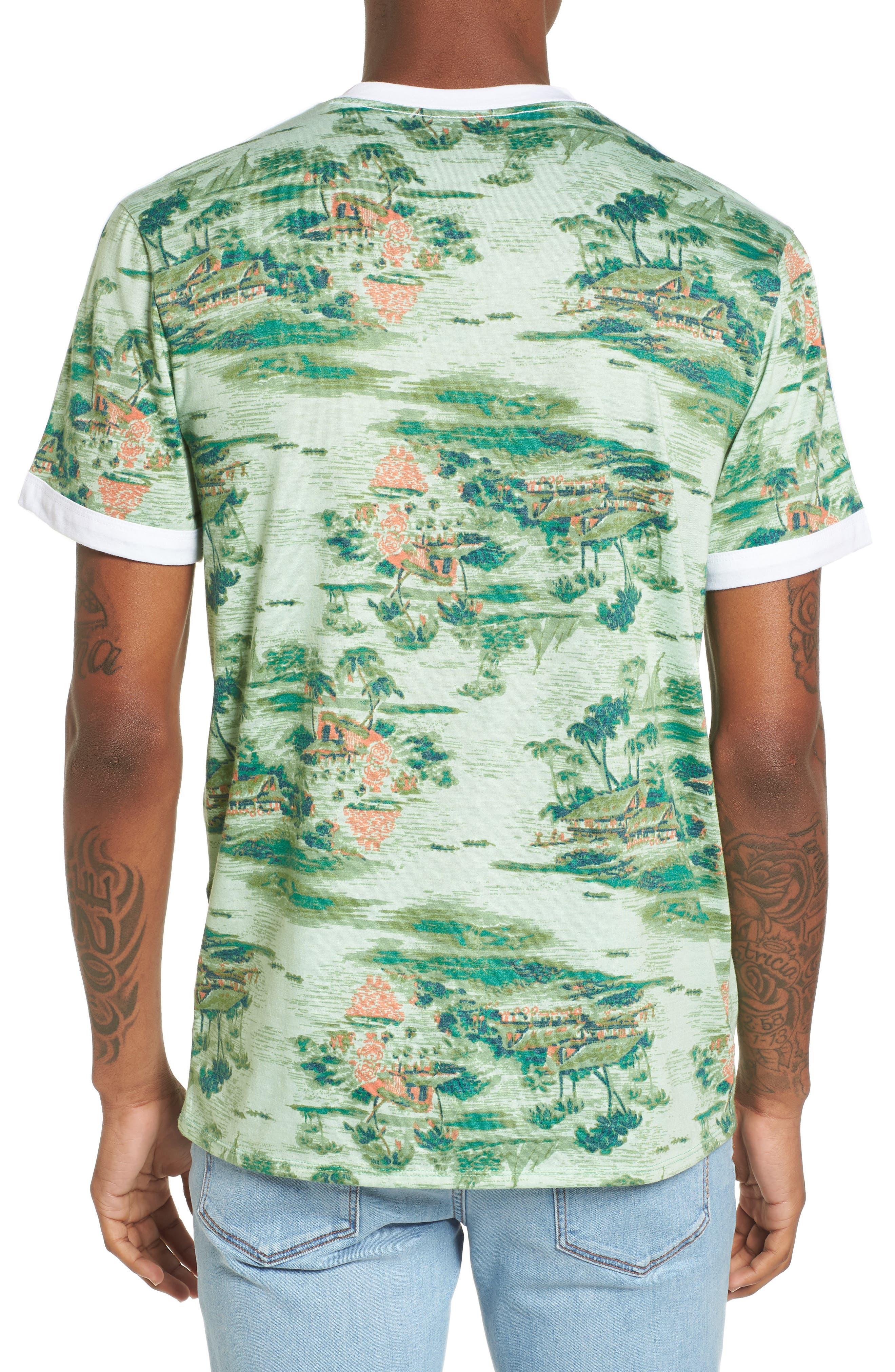 Print V-Neck T-Shirt,                             Alternate thumbnail 2, color,                             310