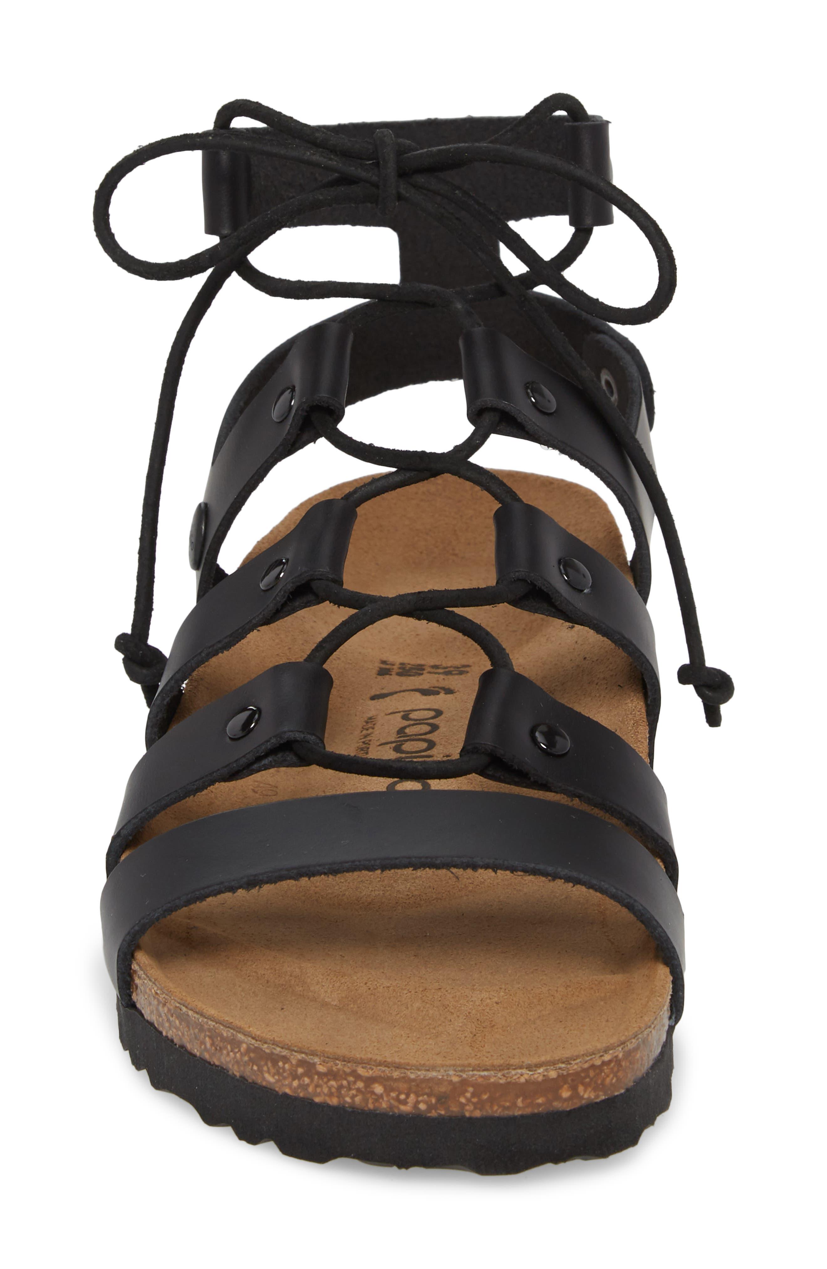Papillio by Birkenstock Cleo Gladiator Sandal,                             Alternate thumbnail 4, color,                             001