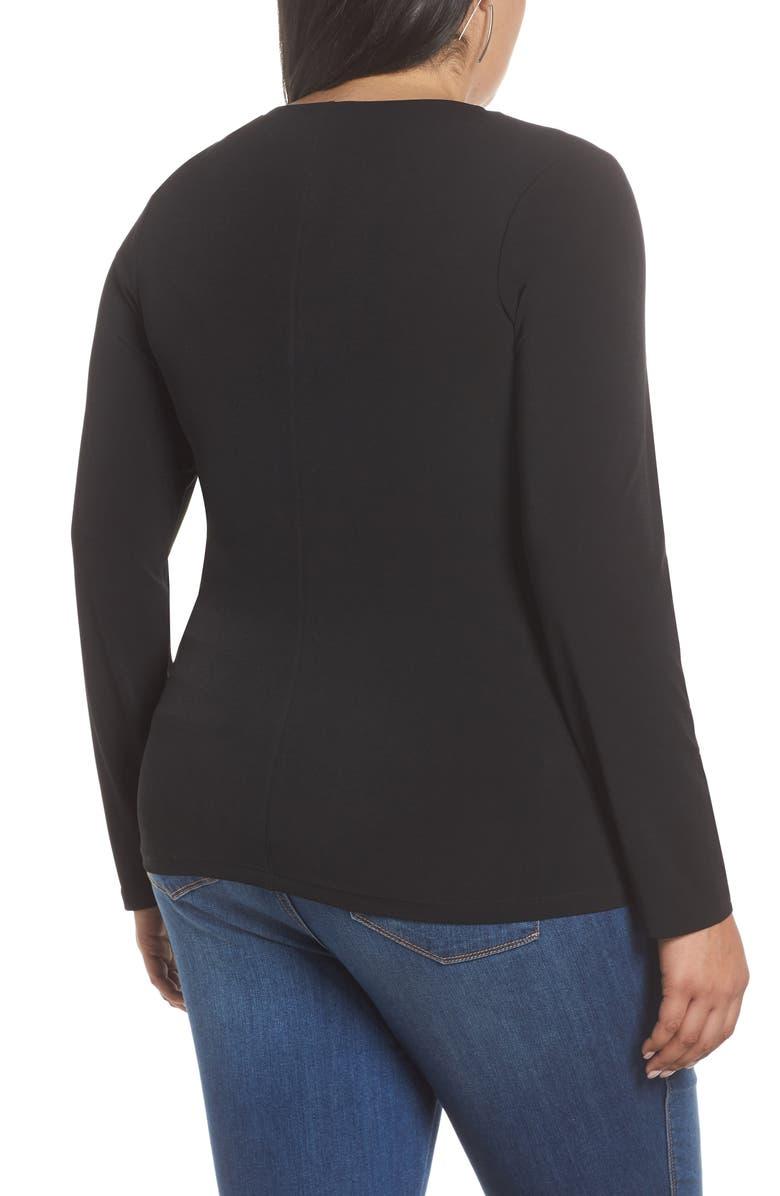 bfd3d2e704af9 Halogen® Surplice Knit Top (Plus Size)