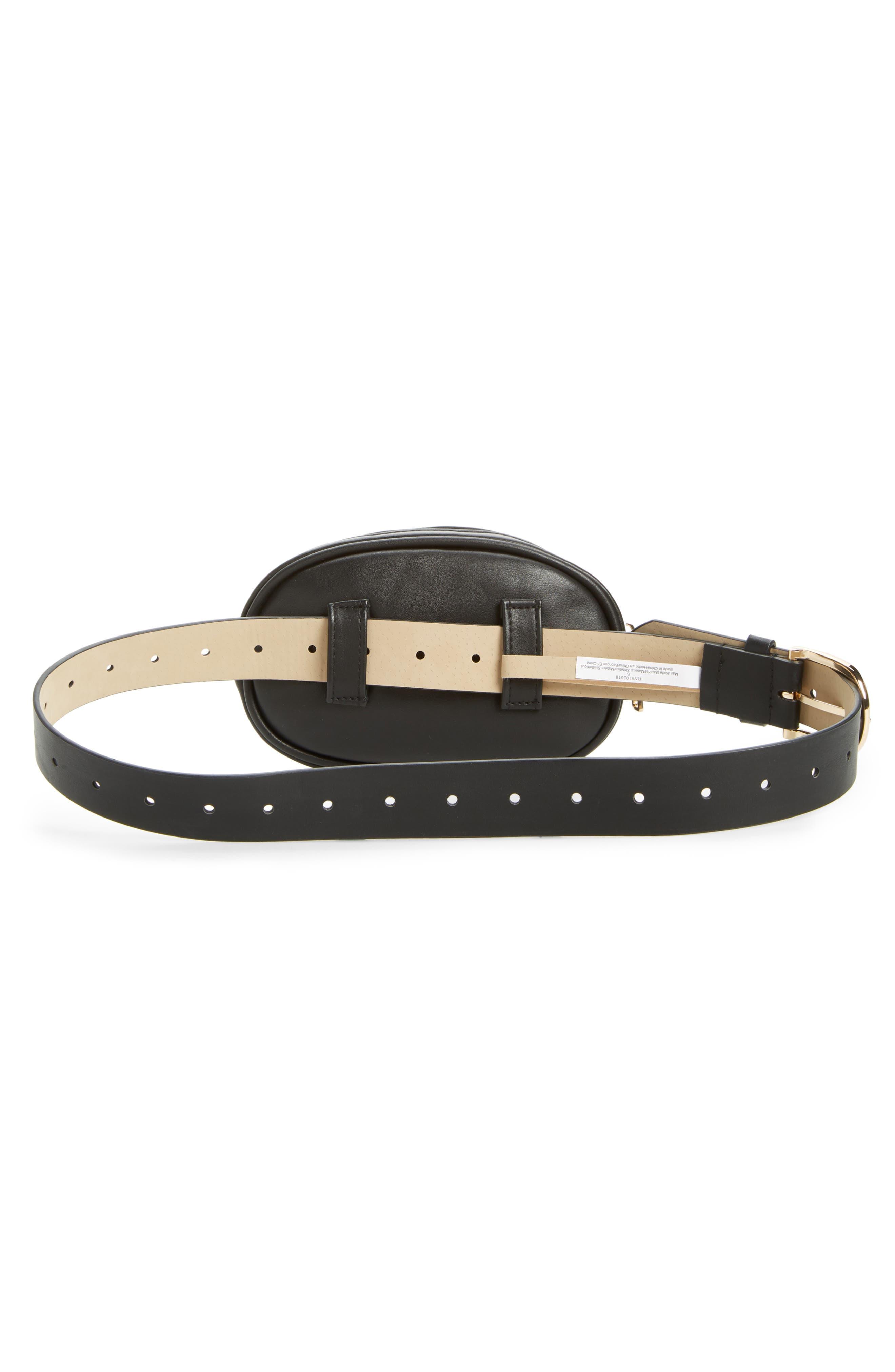 Quilted Belt Bag,                             Alternate thumbnail 4, color,                             002