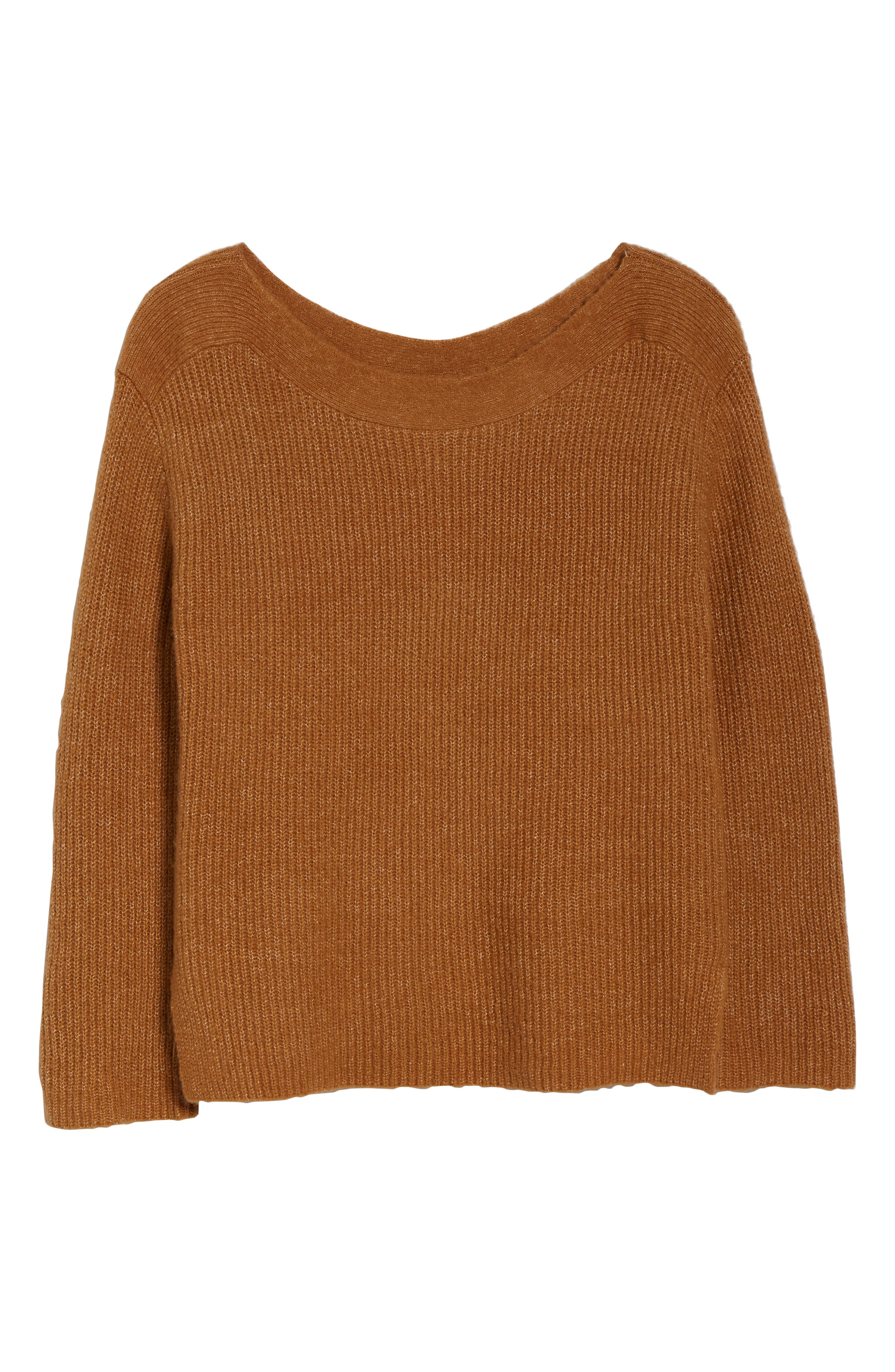 Cozy Femme Pullover Sweater,                             Alternate thumbnail 6, color,                             TAN DALE