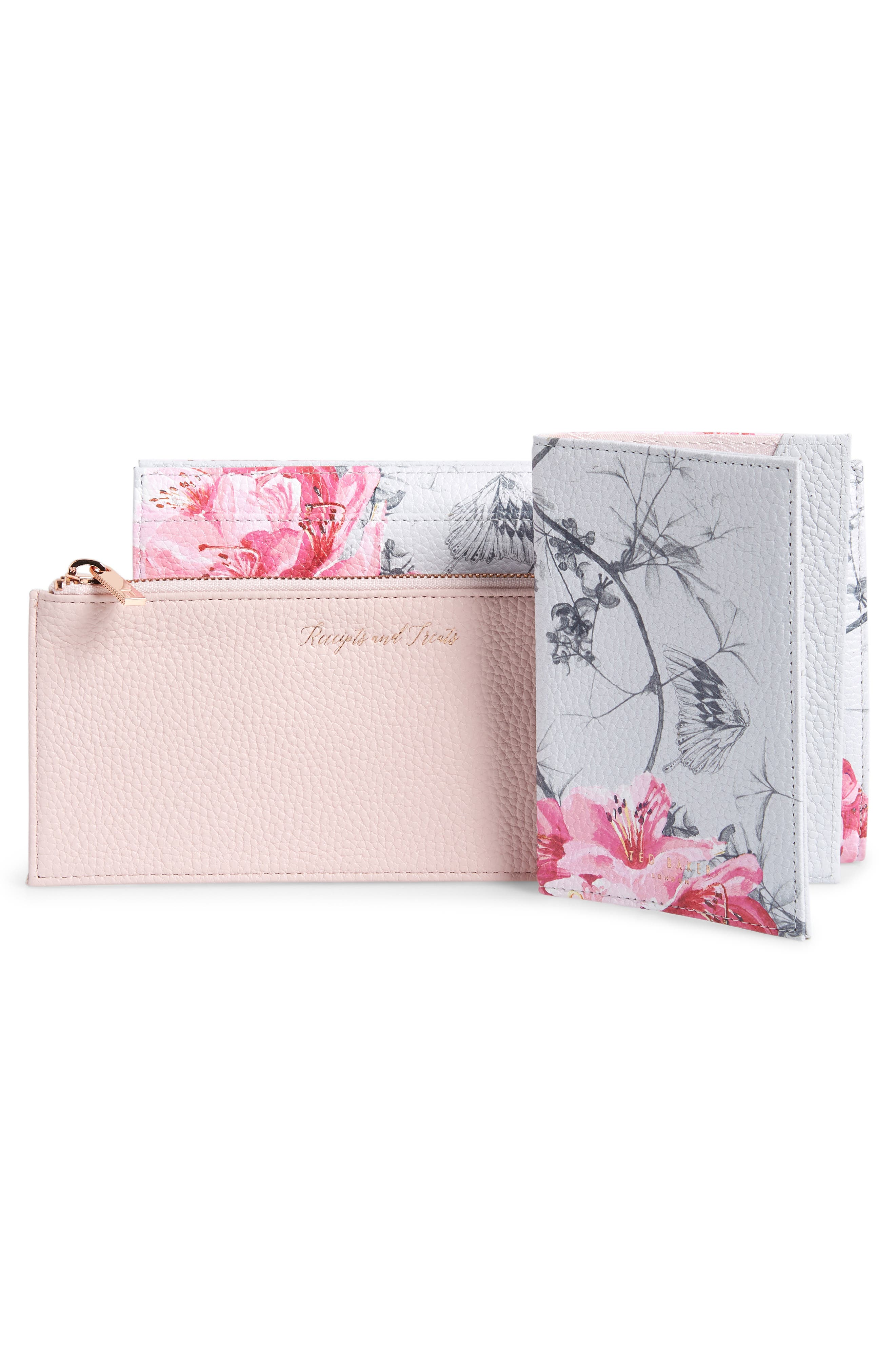 TED BAKER LONDON,                             Babylon Leather Travel Wallet,                             Alternate thumbnail 3, color,                             030