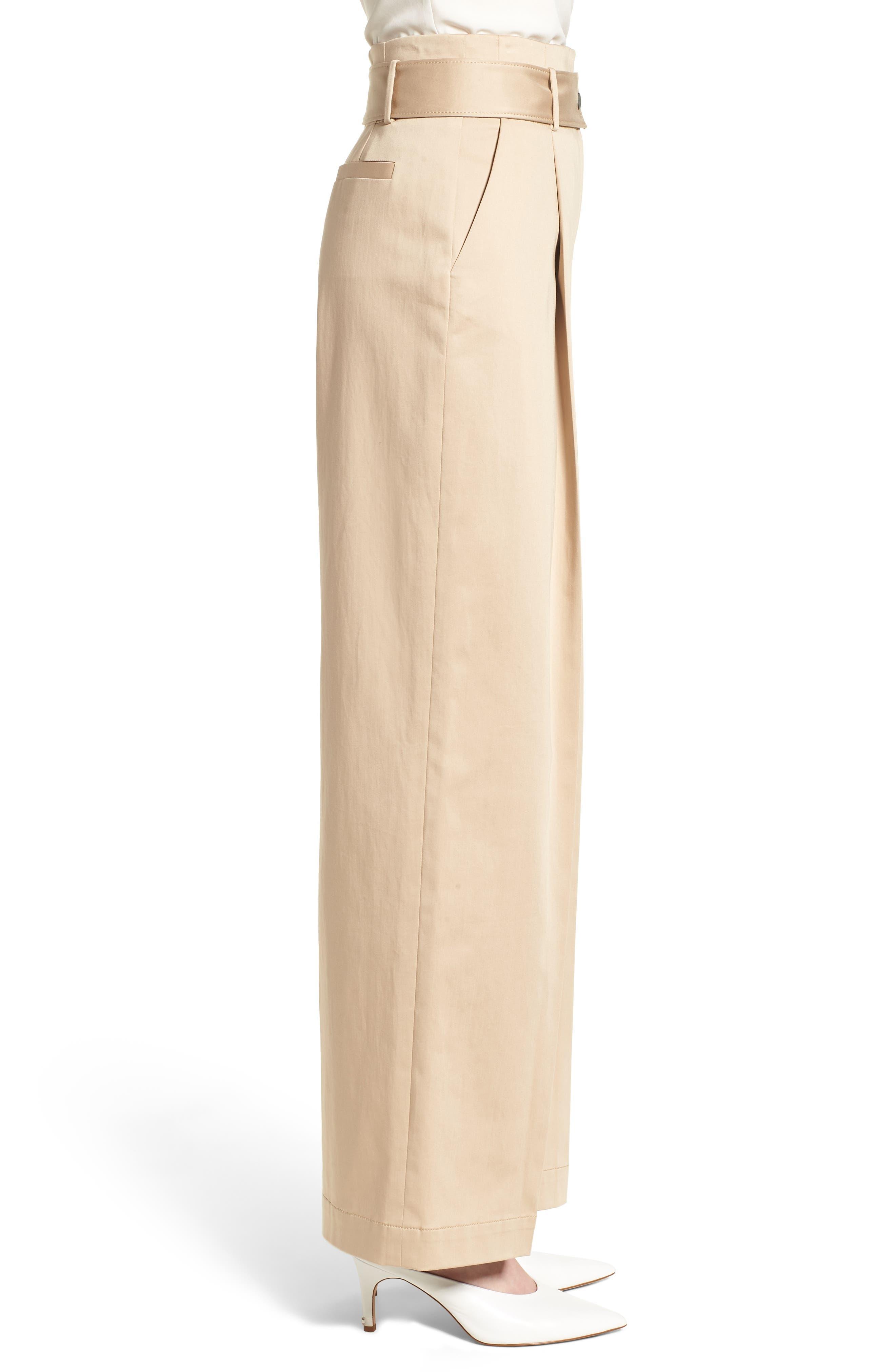 Wide Leg Pants,                             Alternate thumbnail 3, color,                             BEIGE CEMENT