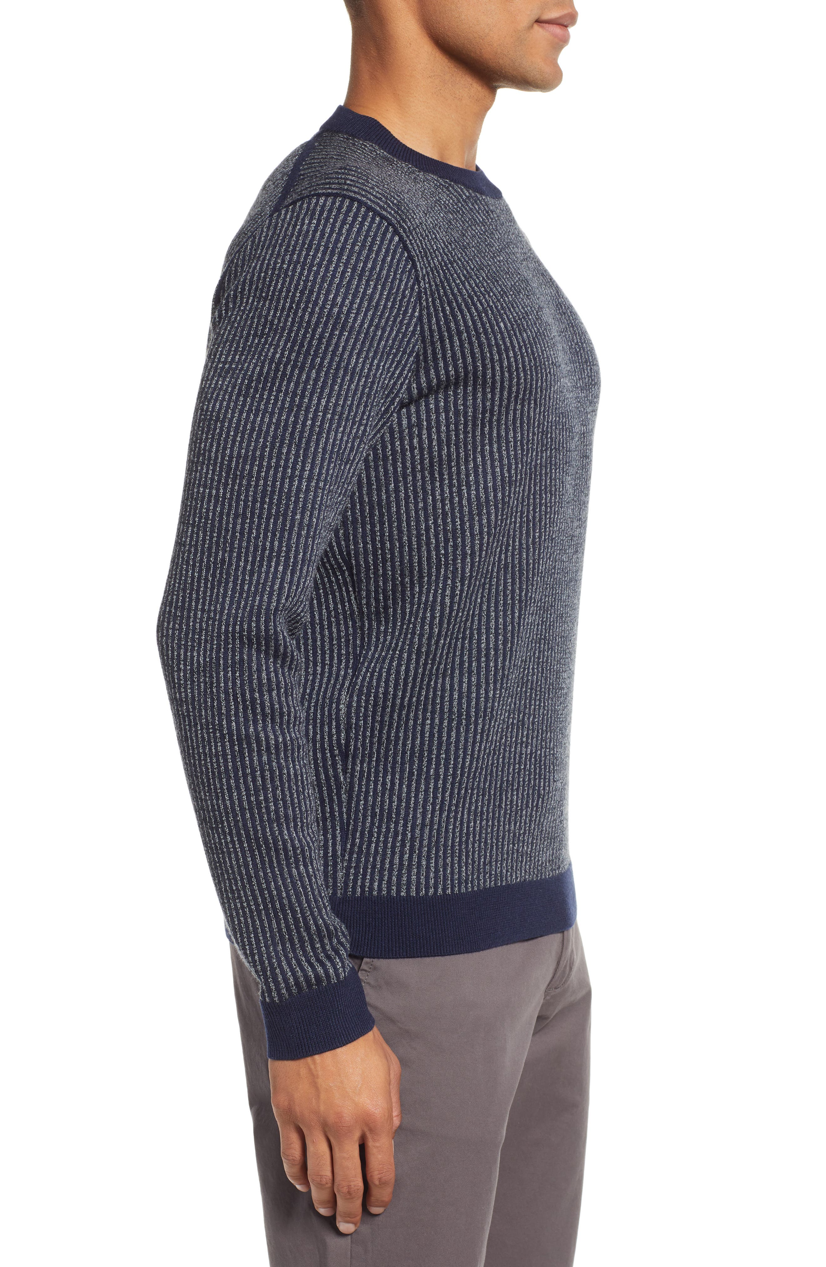 Jinxitt Crewneck Sweater,                             Alternate thumbnail 3, color,                             NAVY