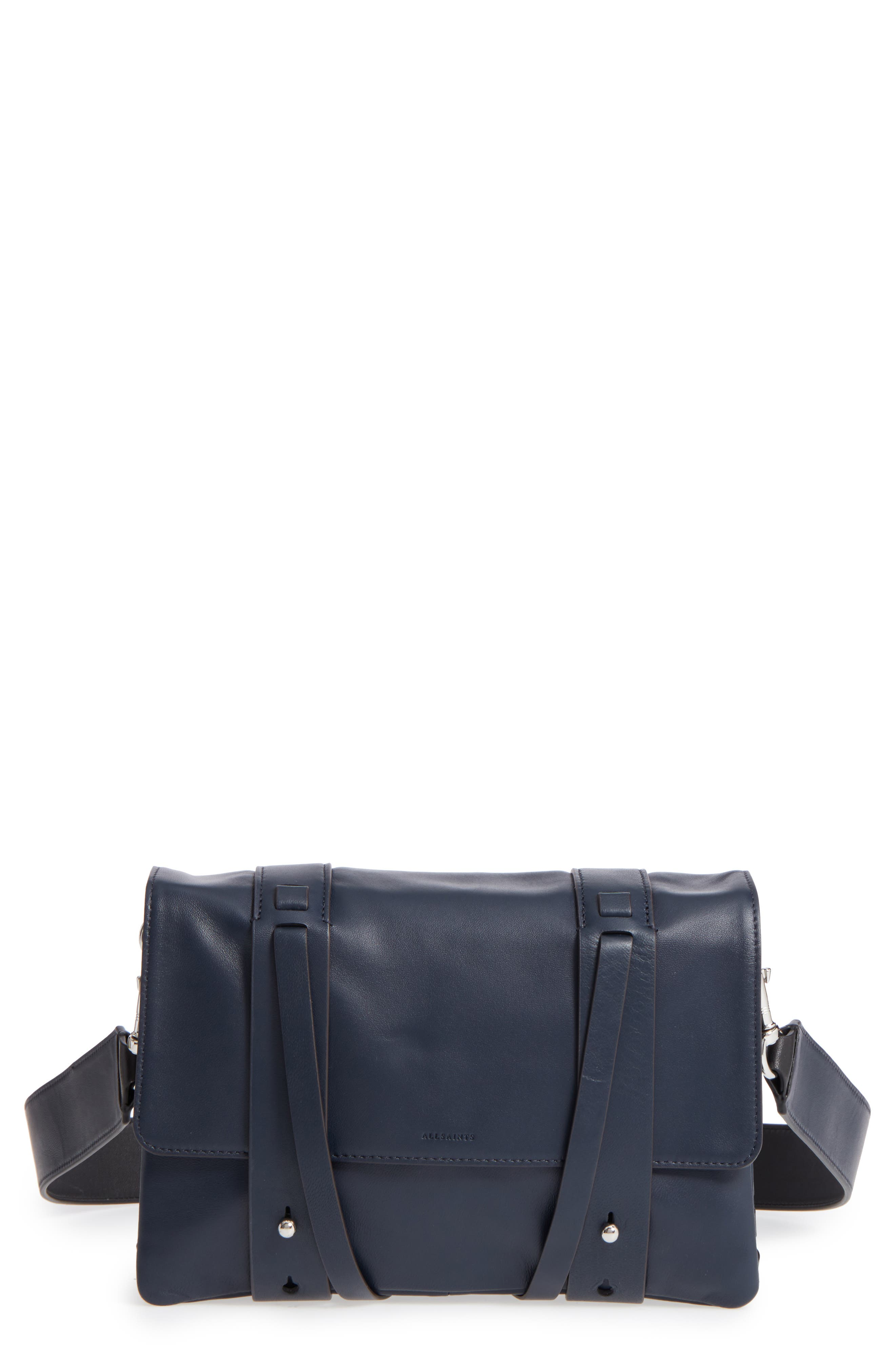 Fin Lambskin Leather Messenger Bag,                             Main thumbnail 2, color,