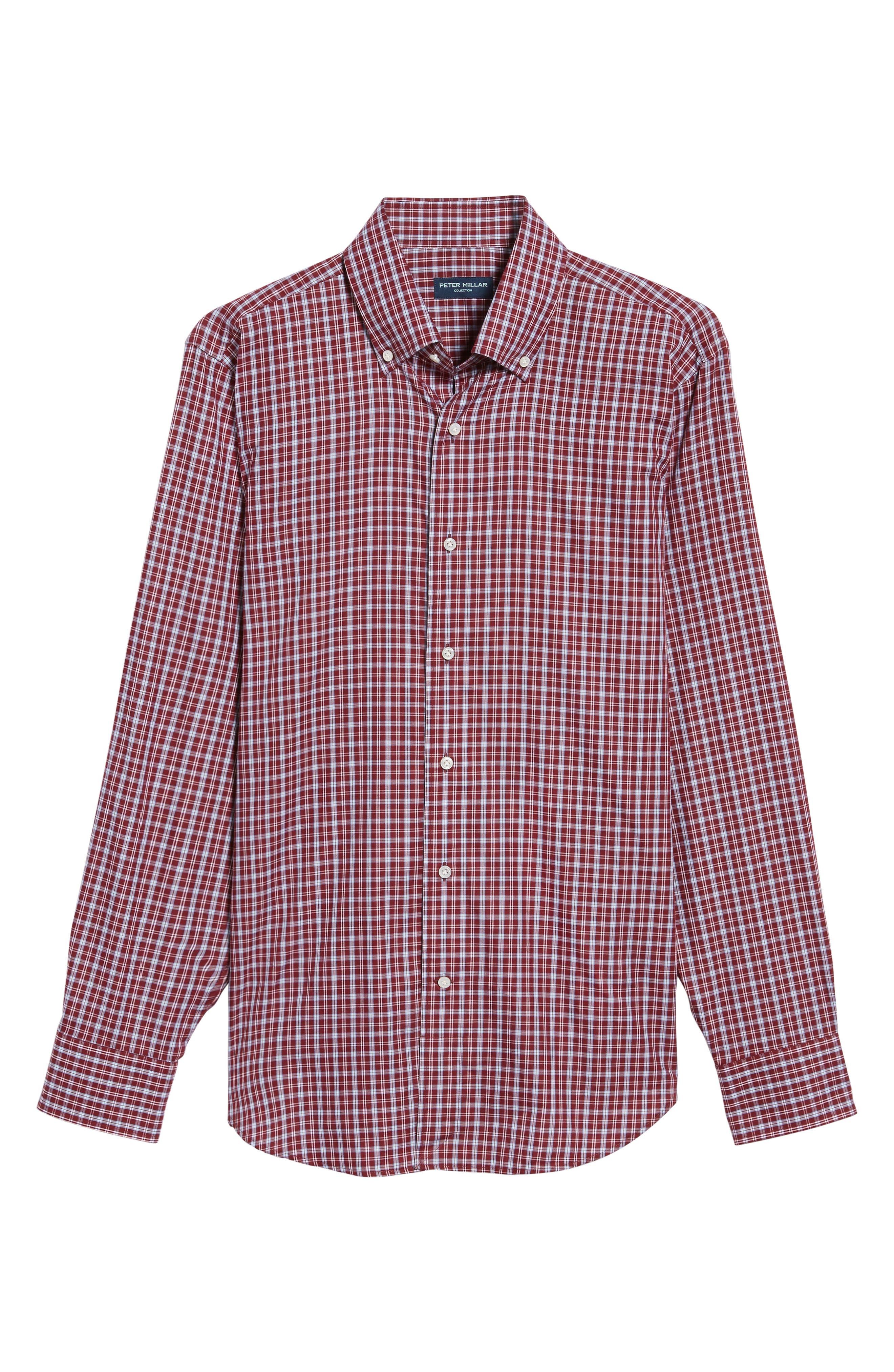 Peter Millar Isle Check Regular Fit Sport Shirt,                             Alternate thumbnail 6, color,                             930