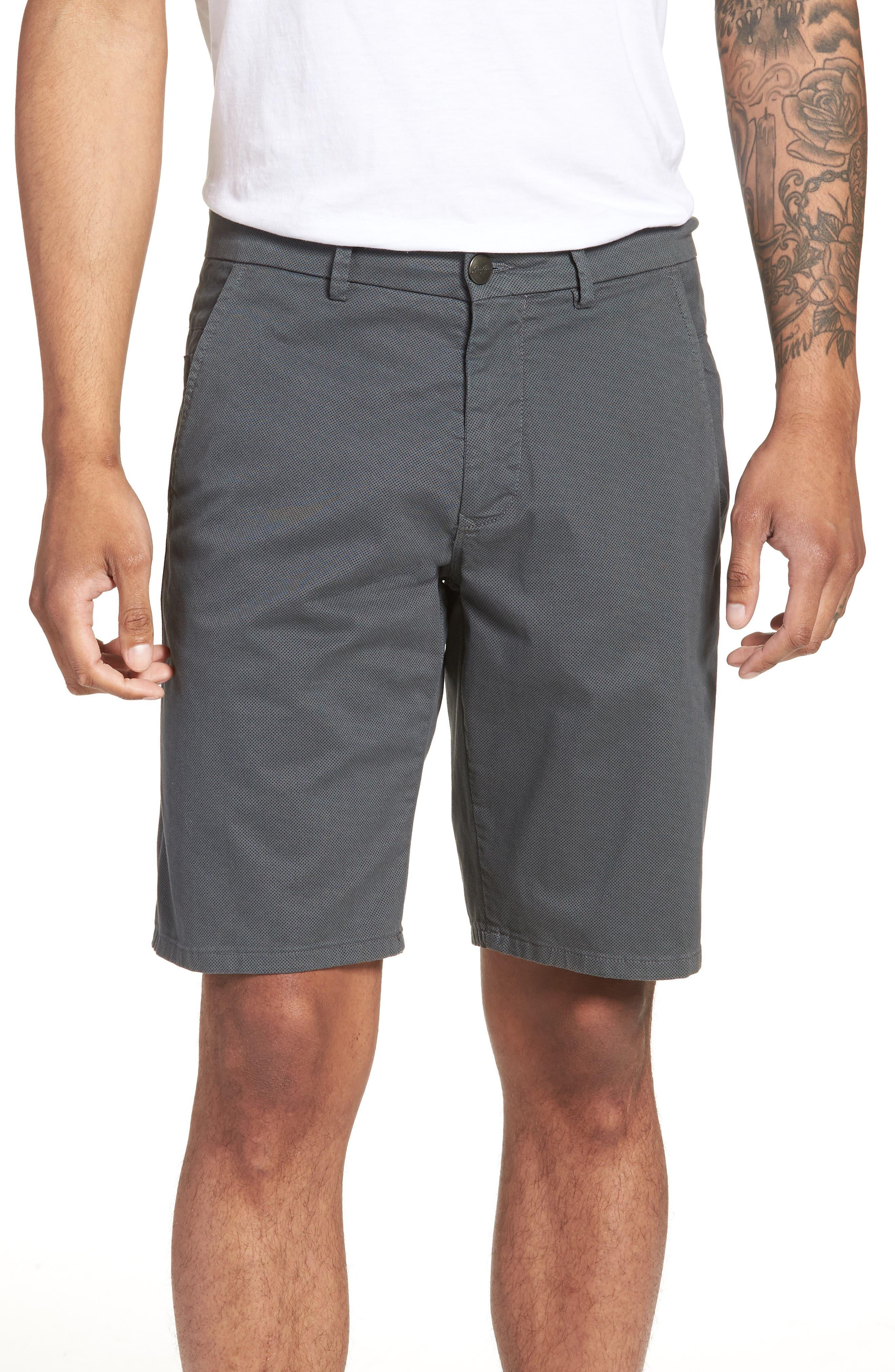Wrap Microdot Stretch Chino Shorts,                         Main,                         color, 051