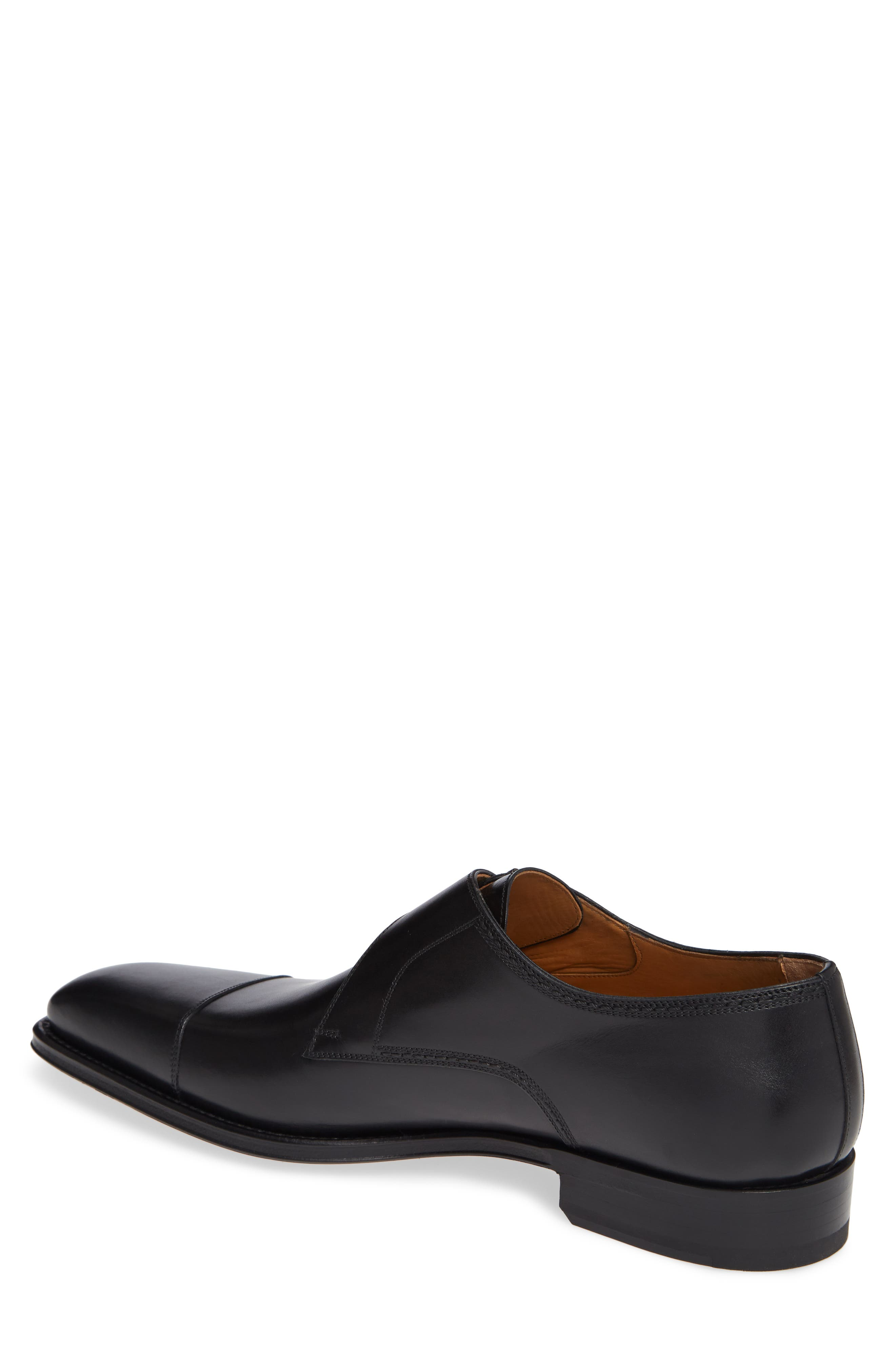 Lennon Monk Strap Shoe,                             Alternate thumbnail 2, color,                             BLACK LEATHER