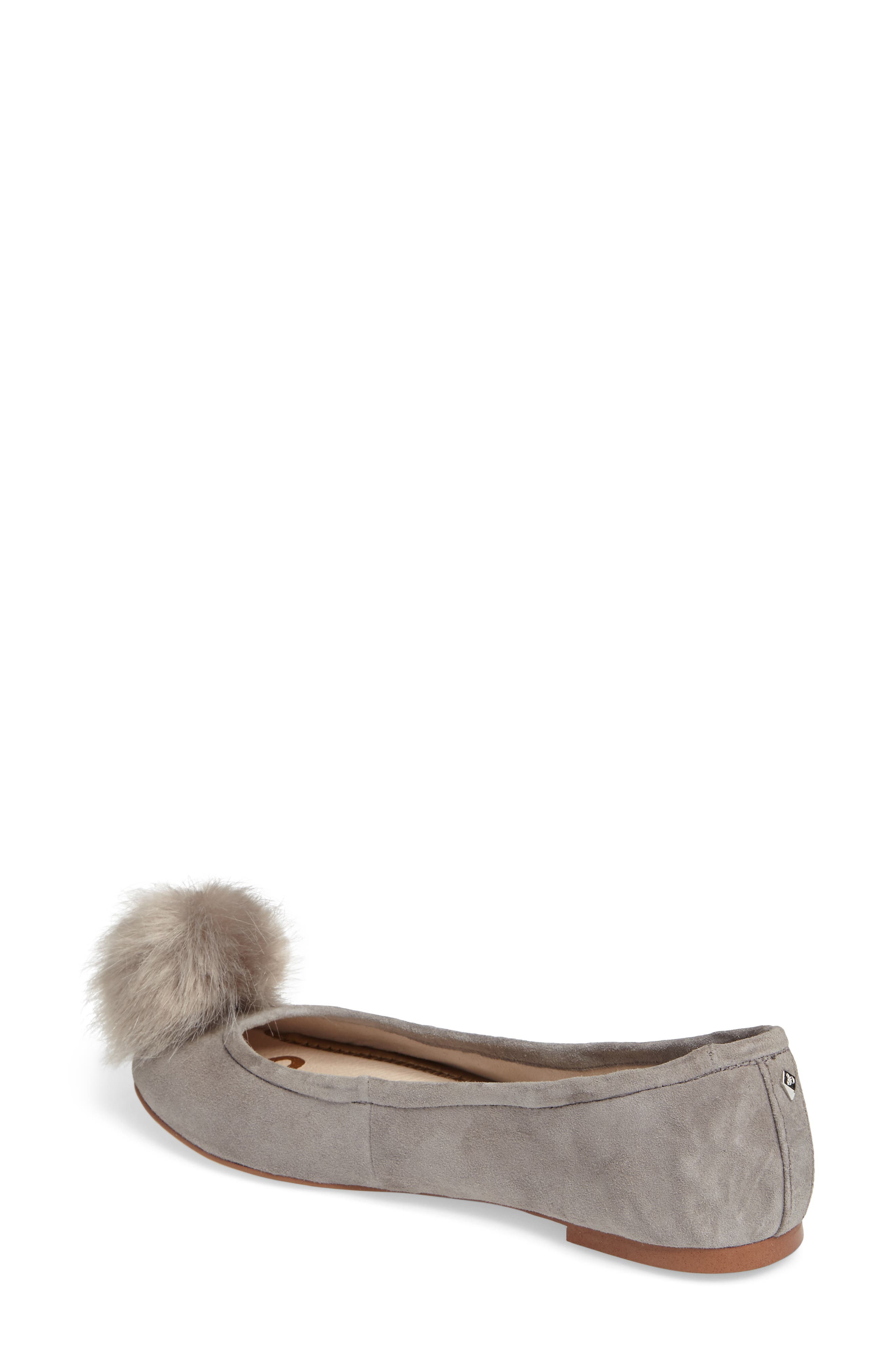 Farina Flat with Faux Fur Pompom,                             Alternate thumbnail 2, color,                             020