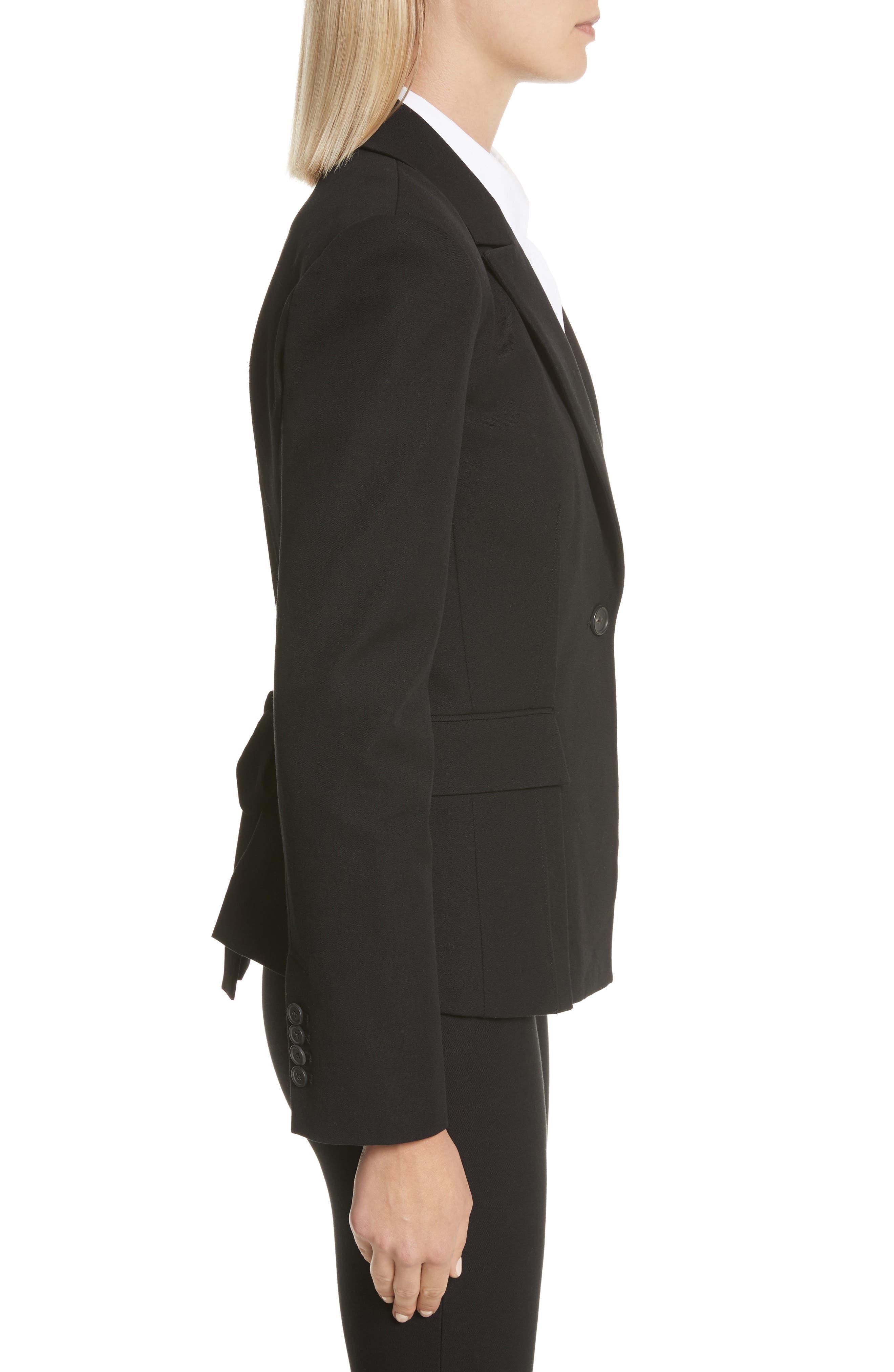 Grommet Tie Back Blazer,                             Alternate thumbnail 3, color,                             001