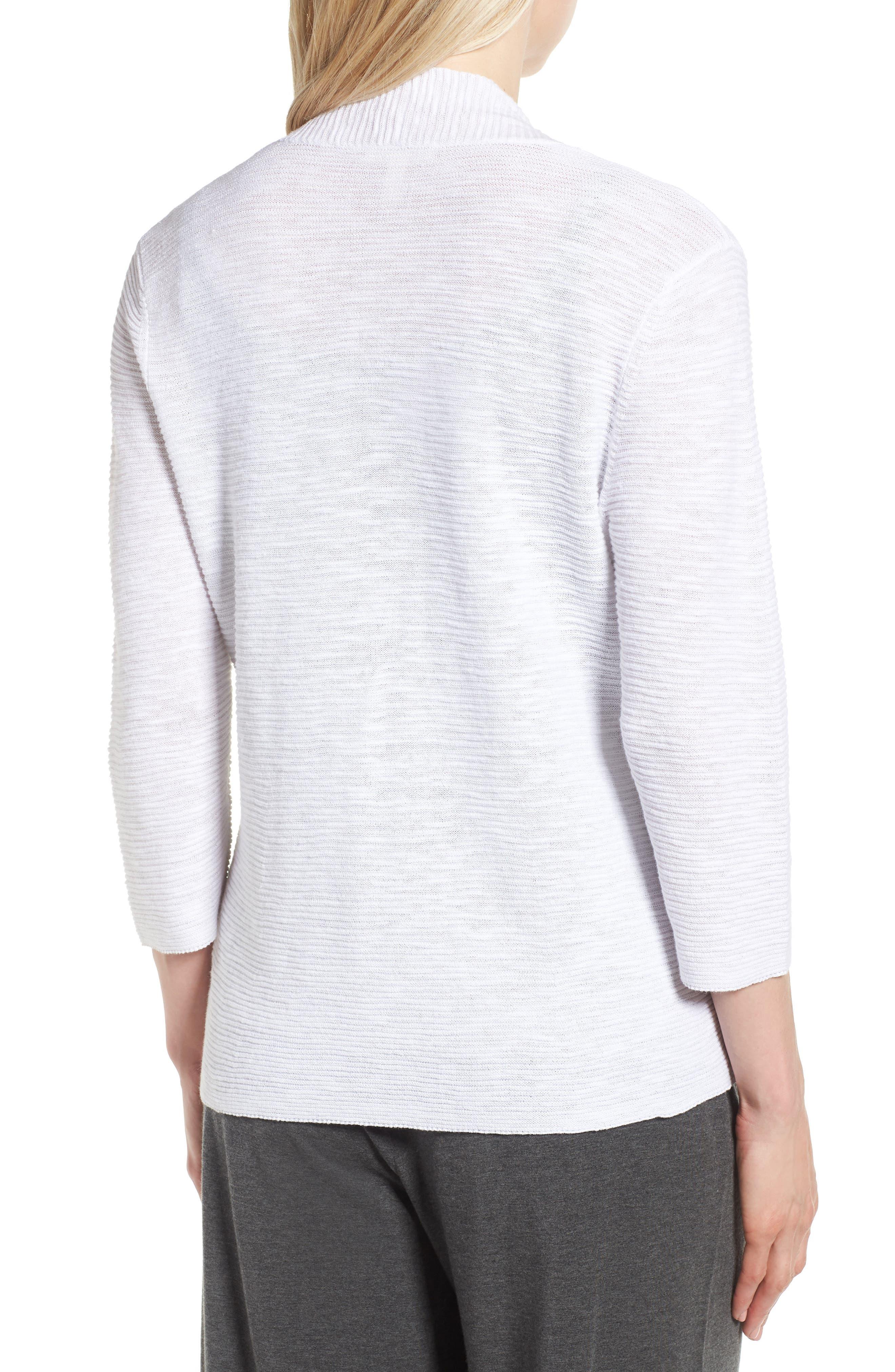 Simple Organic Linen & Cotton Cardigan,                             Alternate thumbnail 4, color,