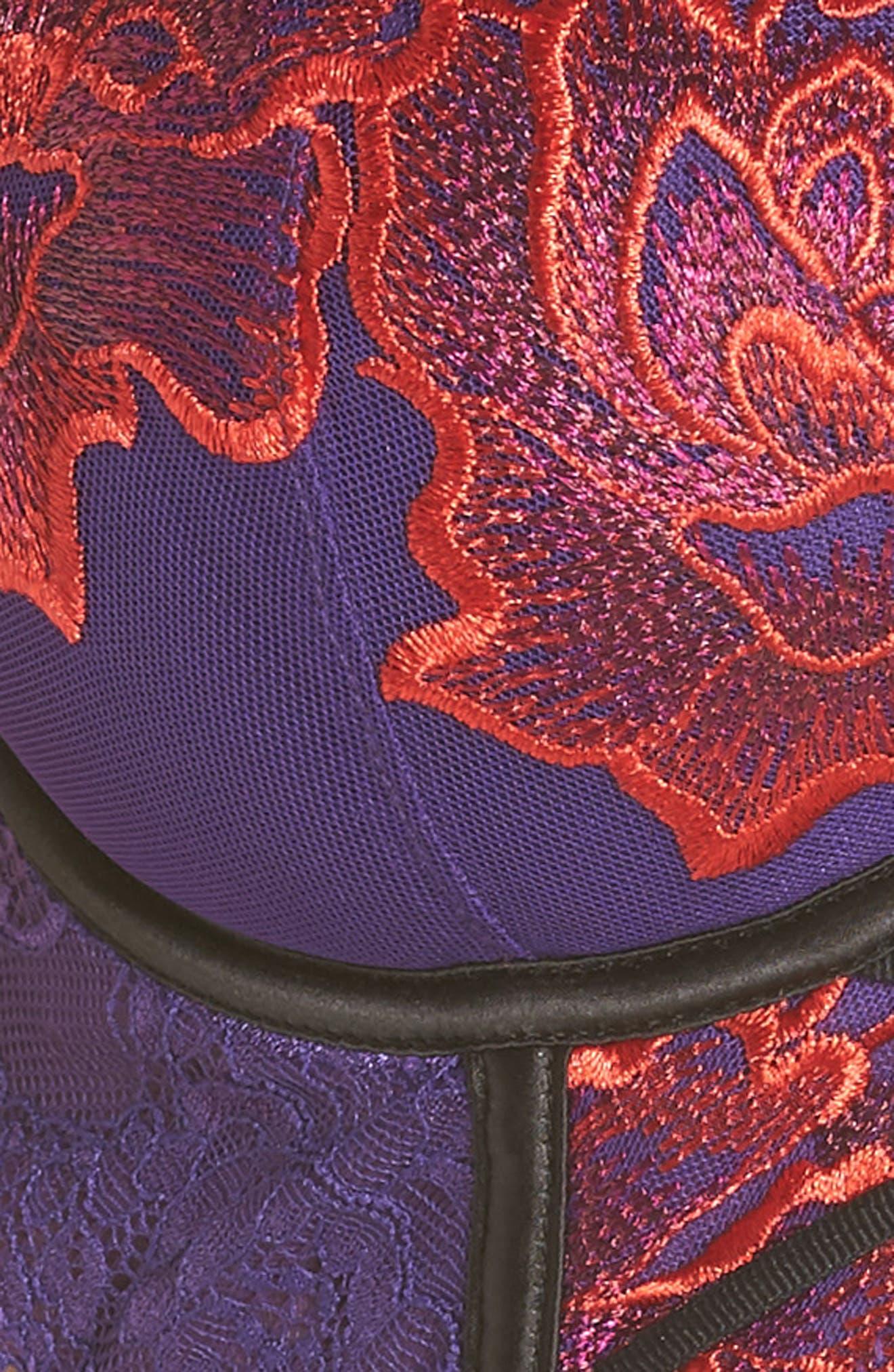 ANN SUMMERS,                             Azealia Longline Underwire Plunge Bra,                             Alternate thumbnail 6, color,                             PURPLE