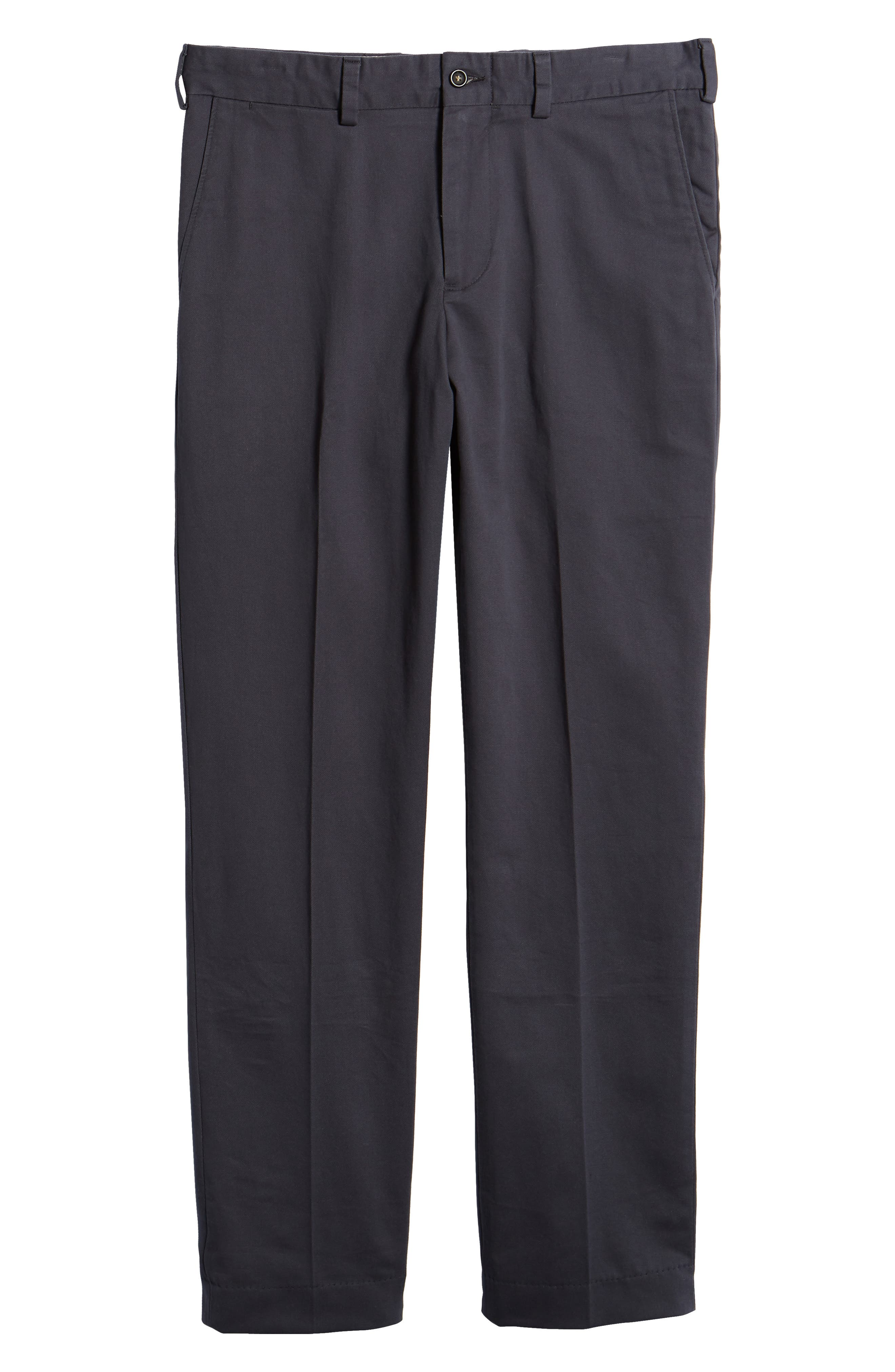 M3 Straight Fit Flat Front Vintage Twill Pants,                             Alternate thumbnail 6, color,