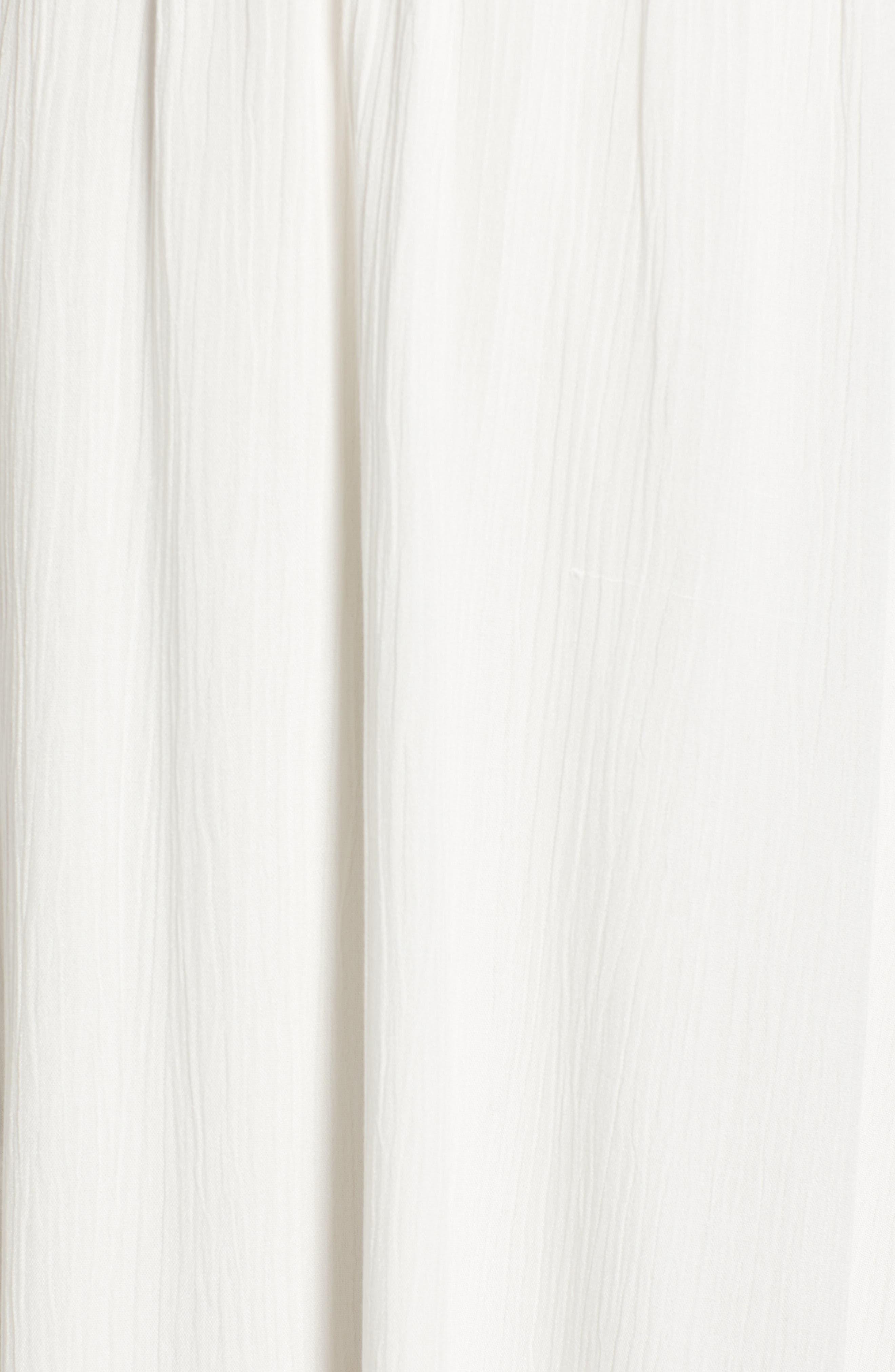 WAYF,                             Blouson Midi Dress,                             Alternate thumbnail 6, color,                             WHITE