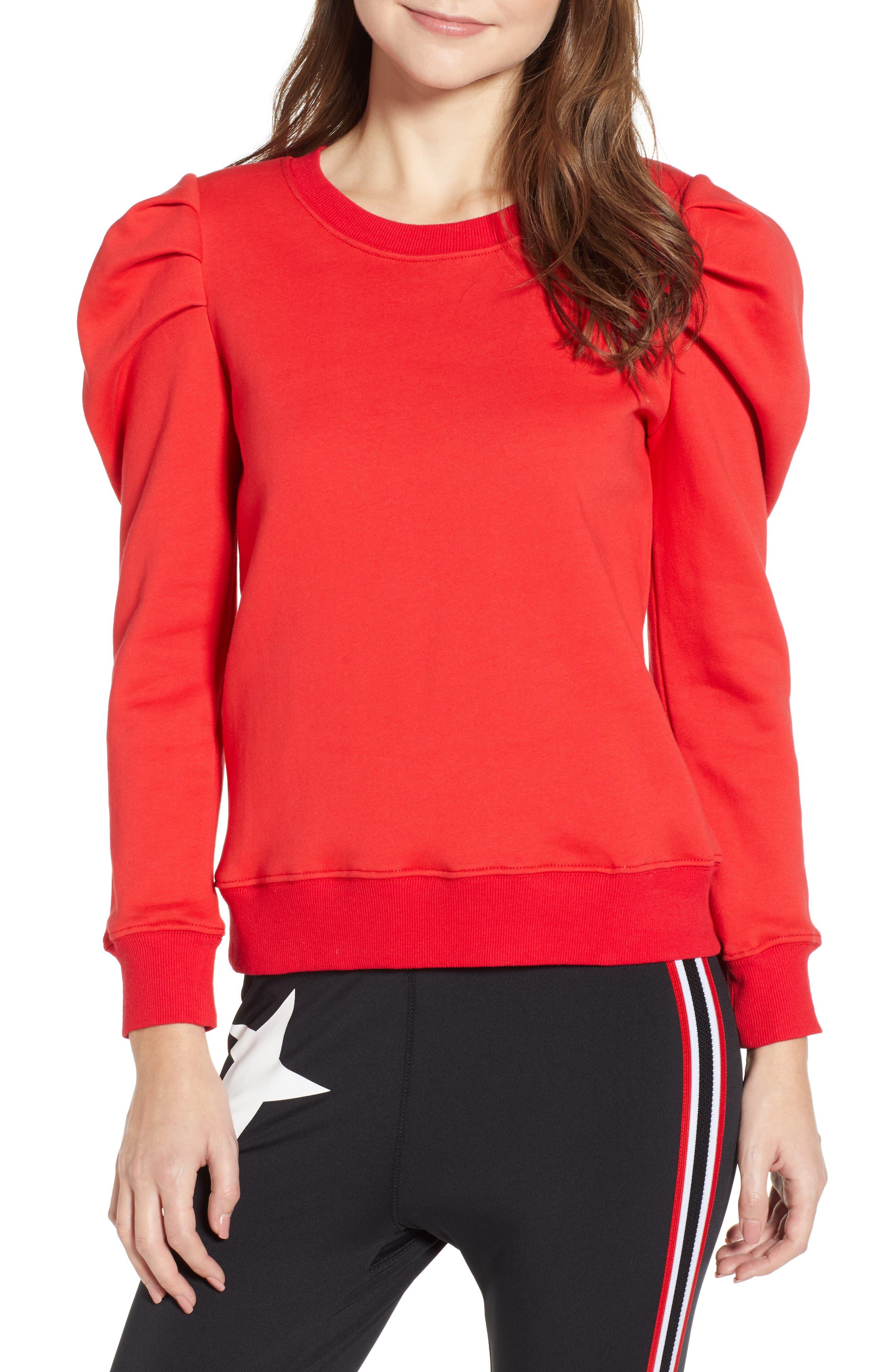 PAM & GELA Puff Sleeve Sweatshirt, Main, color, 600