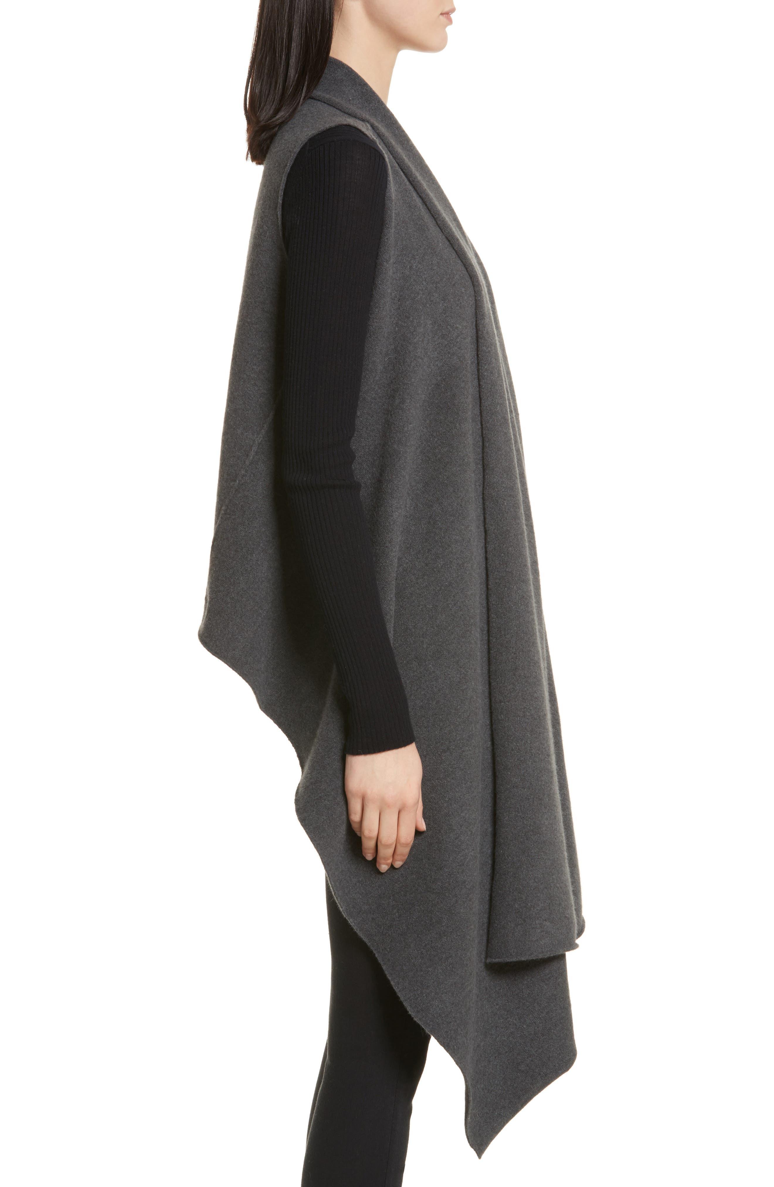 Sorin Merino Wool Blend Wrap Vest,                             Alternate thumbnail 3, color,                             020