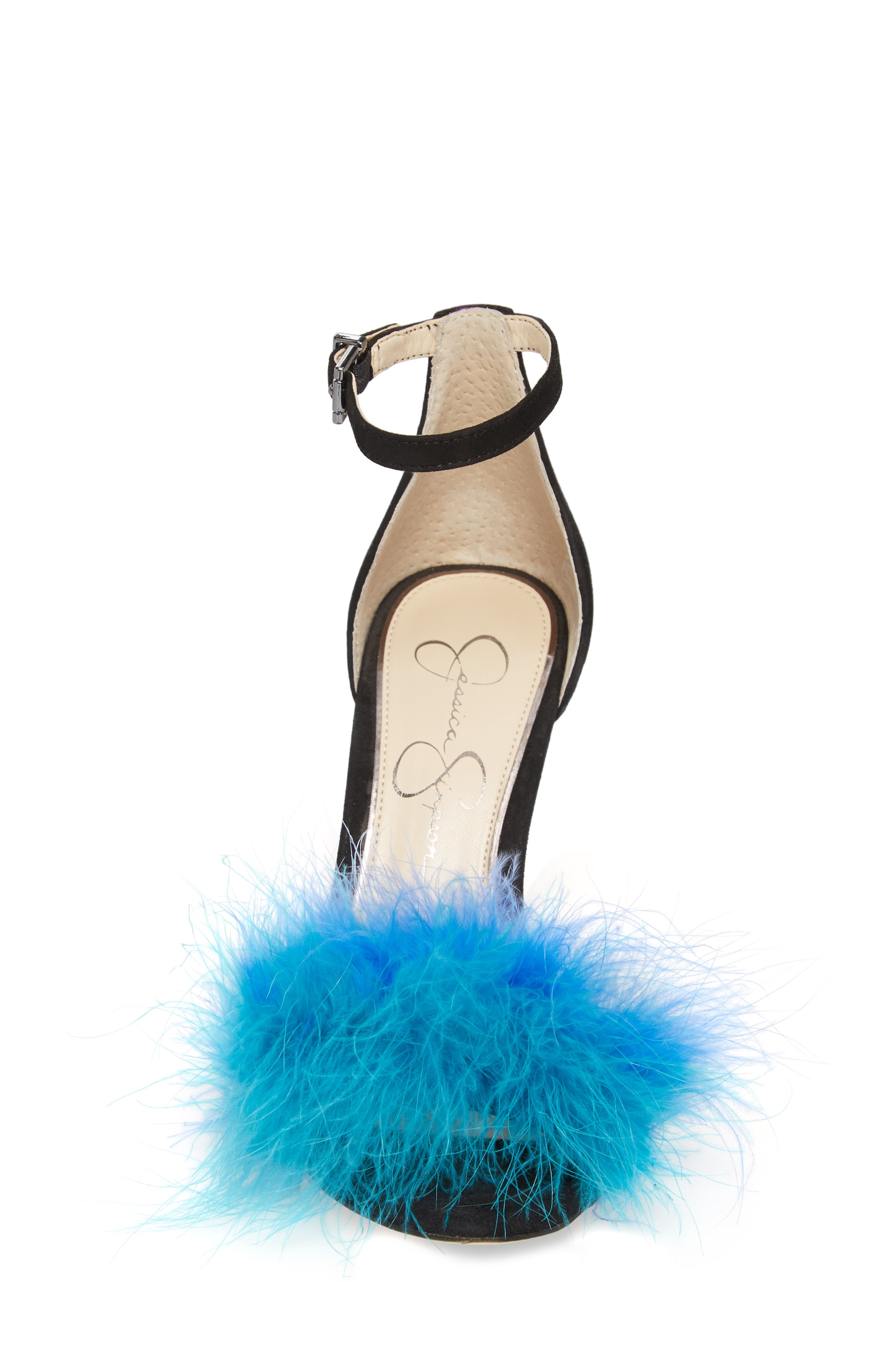 Jesaphine Feathered Sandal,                             Alternate thumbnail 4, color,                             460