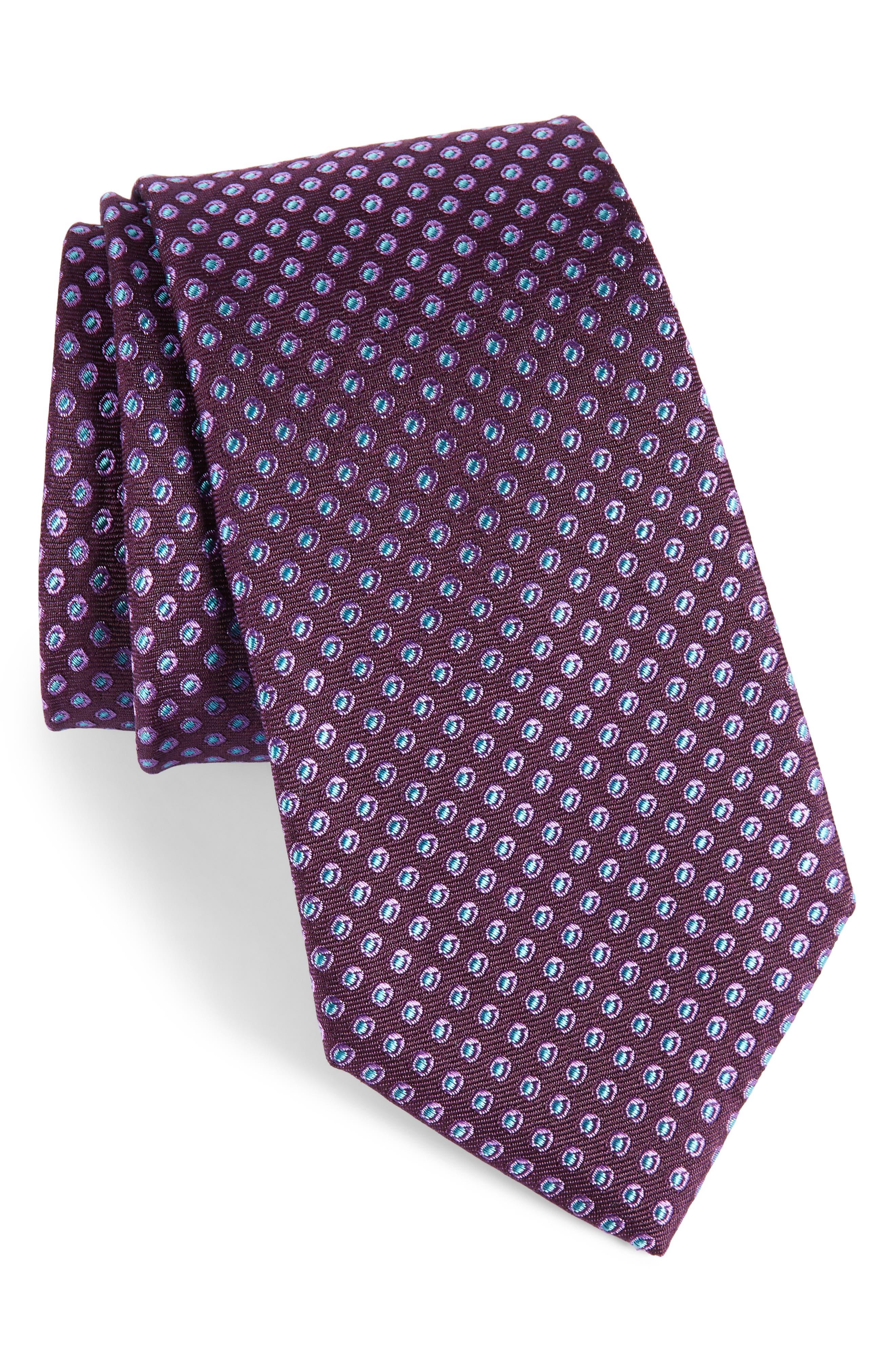 Oxford Dot Silk Tie,                             Main thumbnail 5, color,