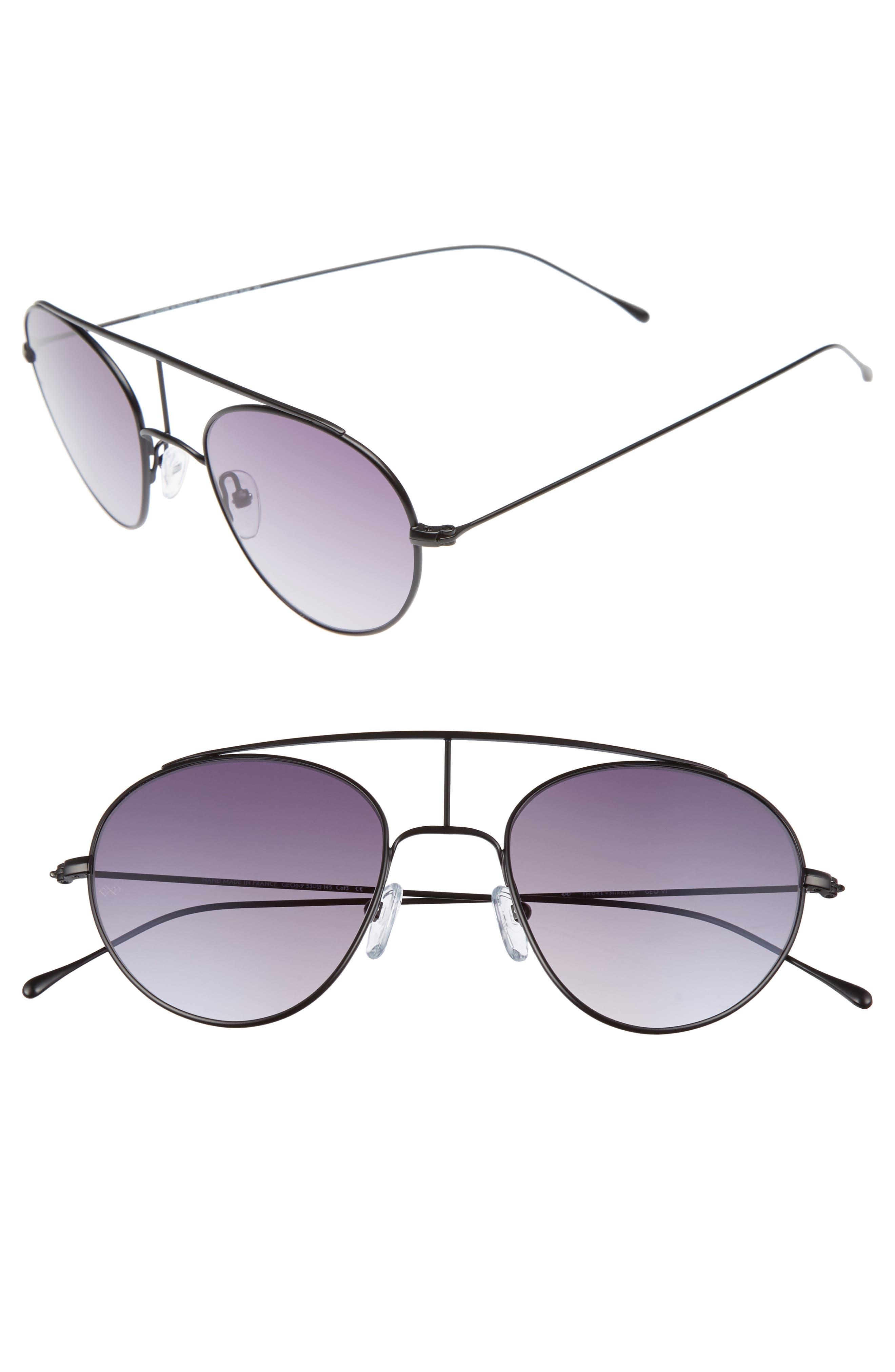 Geo 6 53mm Retro Sunglasses,                             Main thumbnail 1, color,                             001